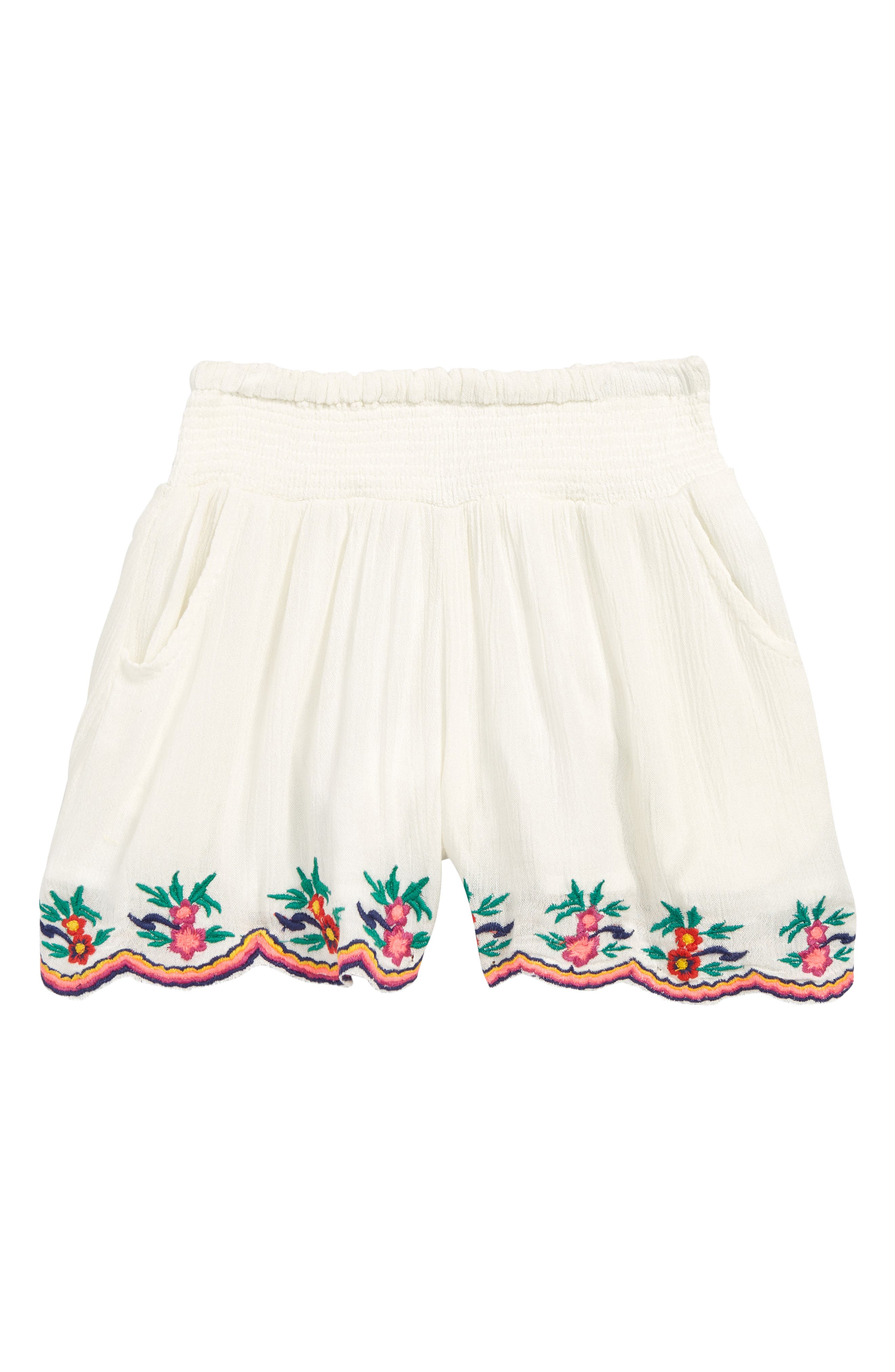 PEEK AREN'T YOU CURIOUS Lisa Embroidered Skort, Main, color, WHITE
