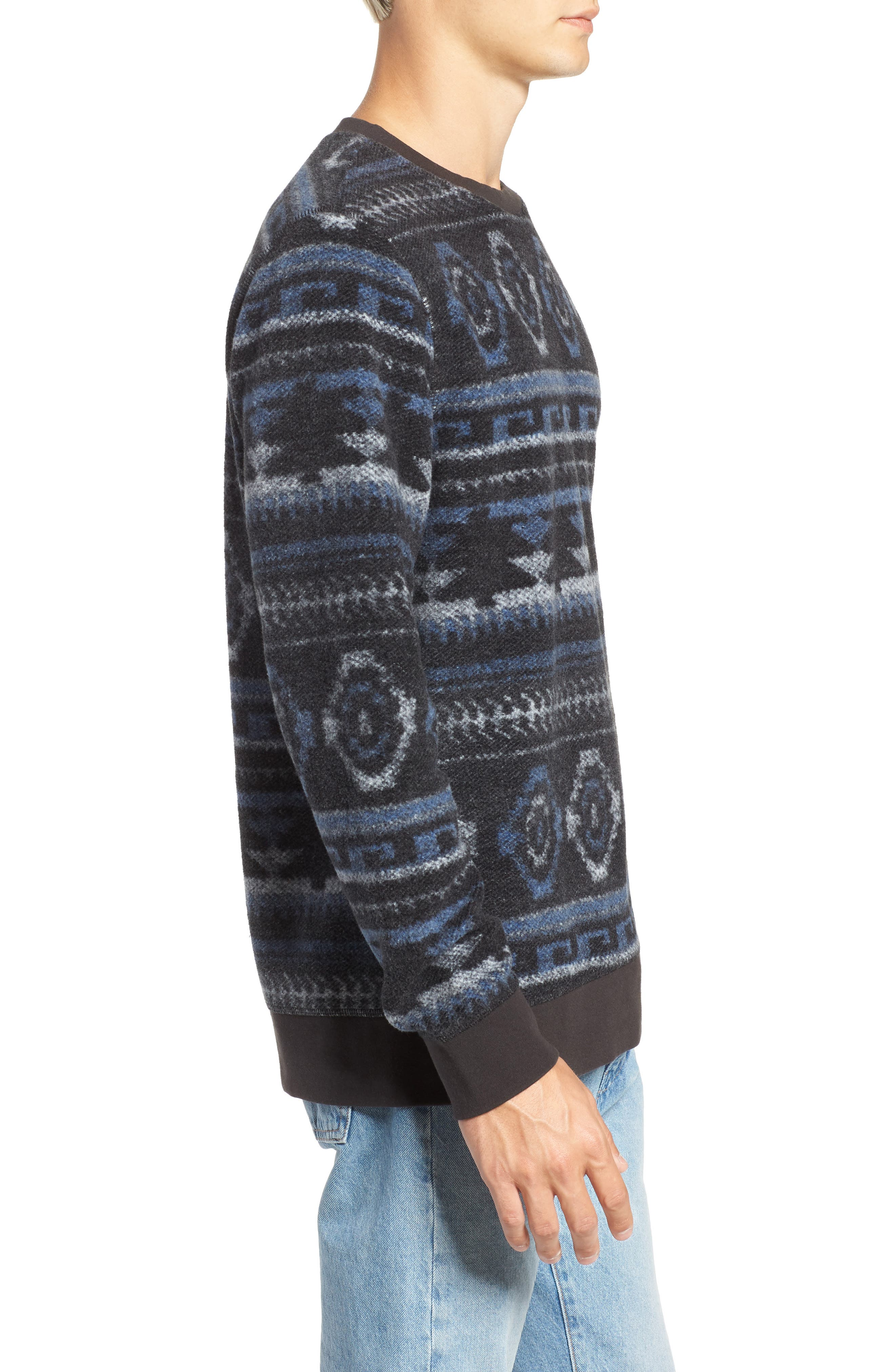 Fleece Sweatshirt,                             Alternate thumbnail 3, color,                             020