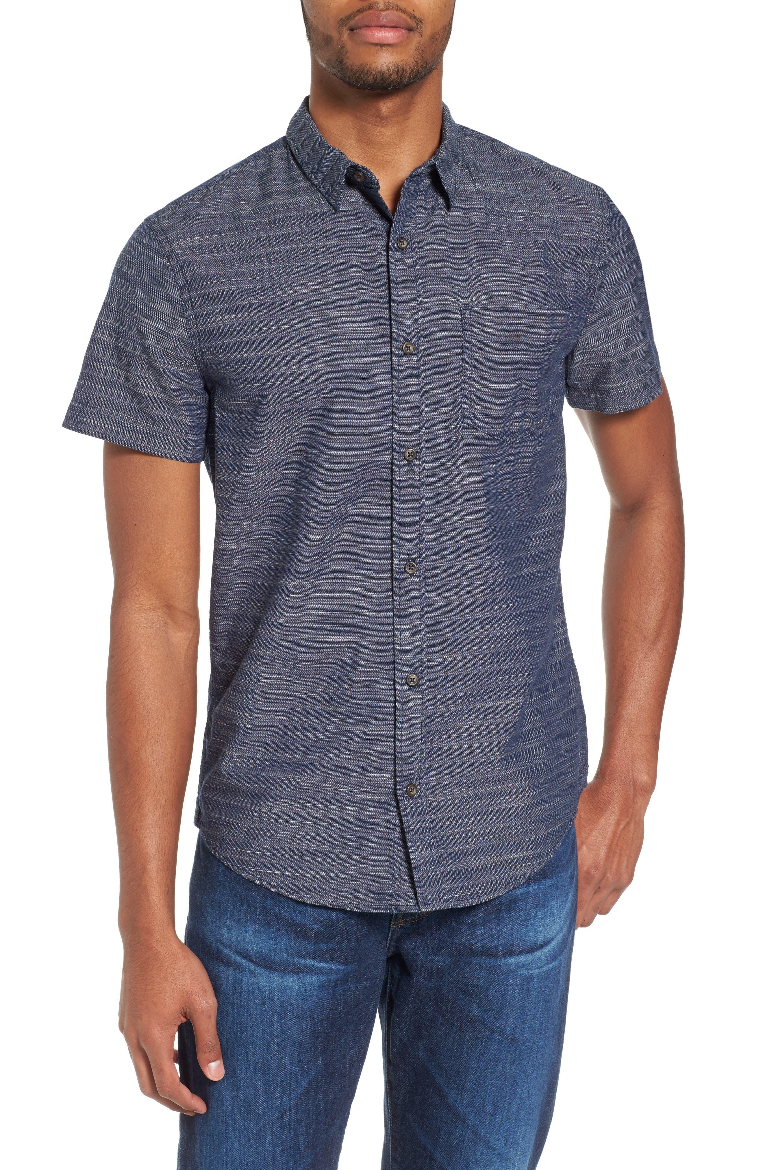 Herringbone Chambray Shirt,                             Main thumbnail 2, color,