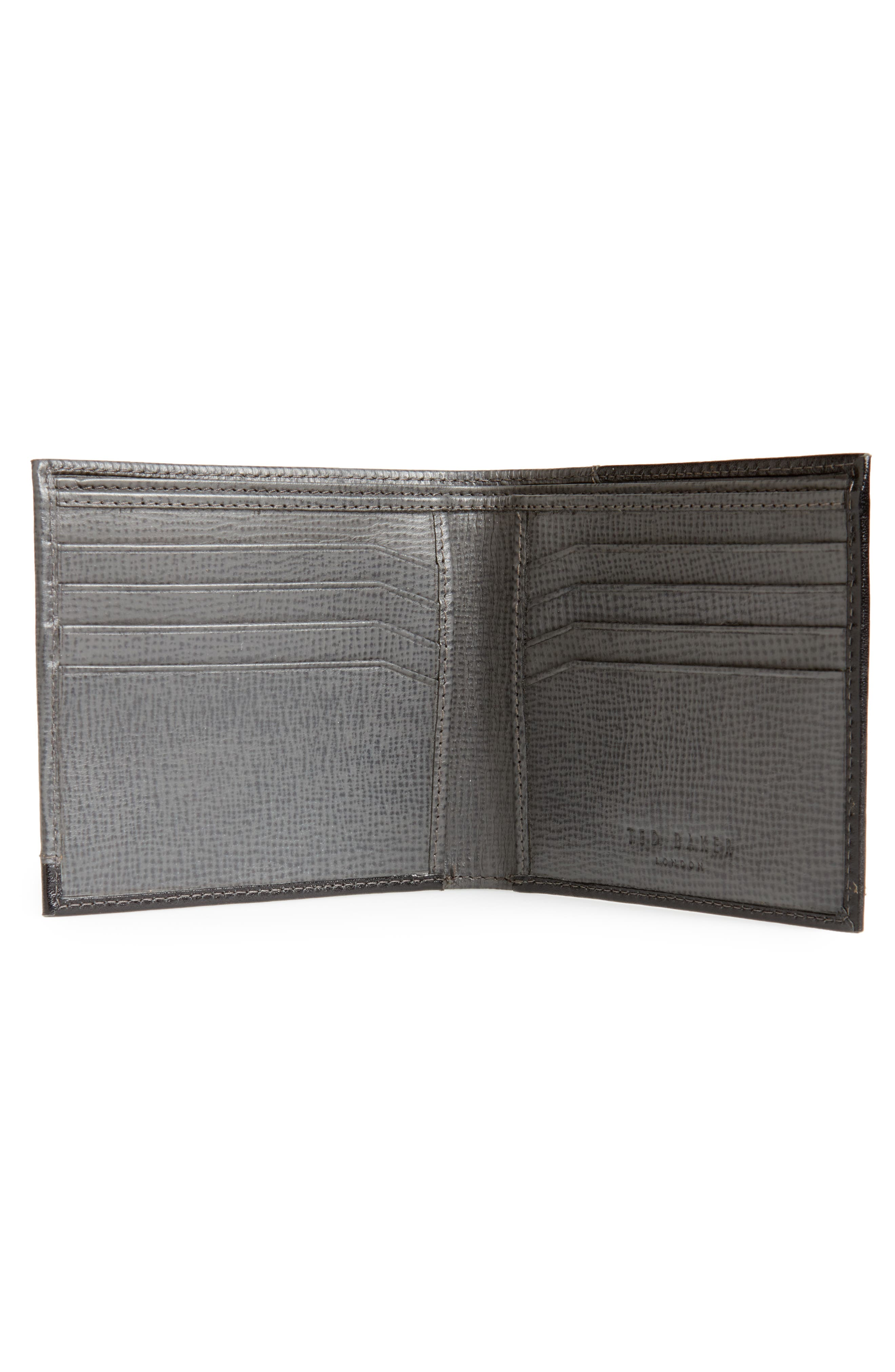 TED BAKER LONDON,                             Roller Textured Leather Wallet,                             Alternate thumbnail 2, color,                             020