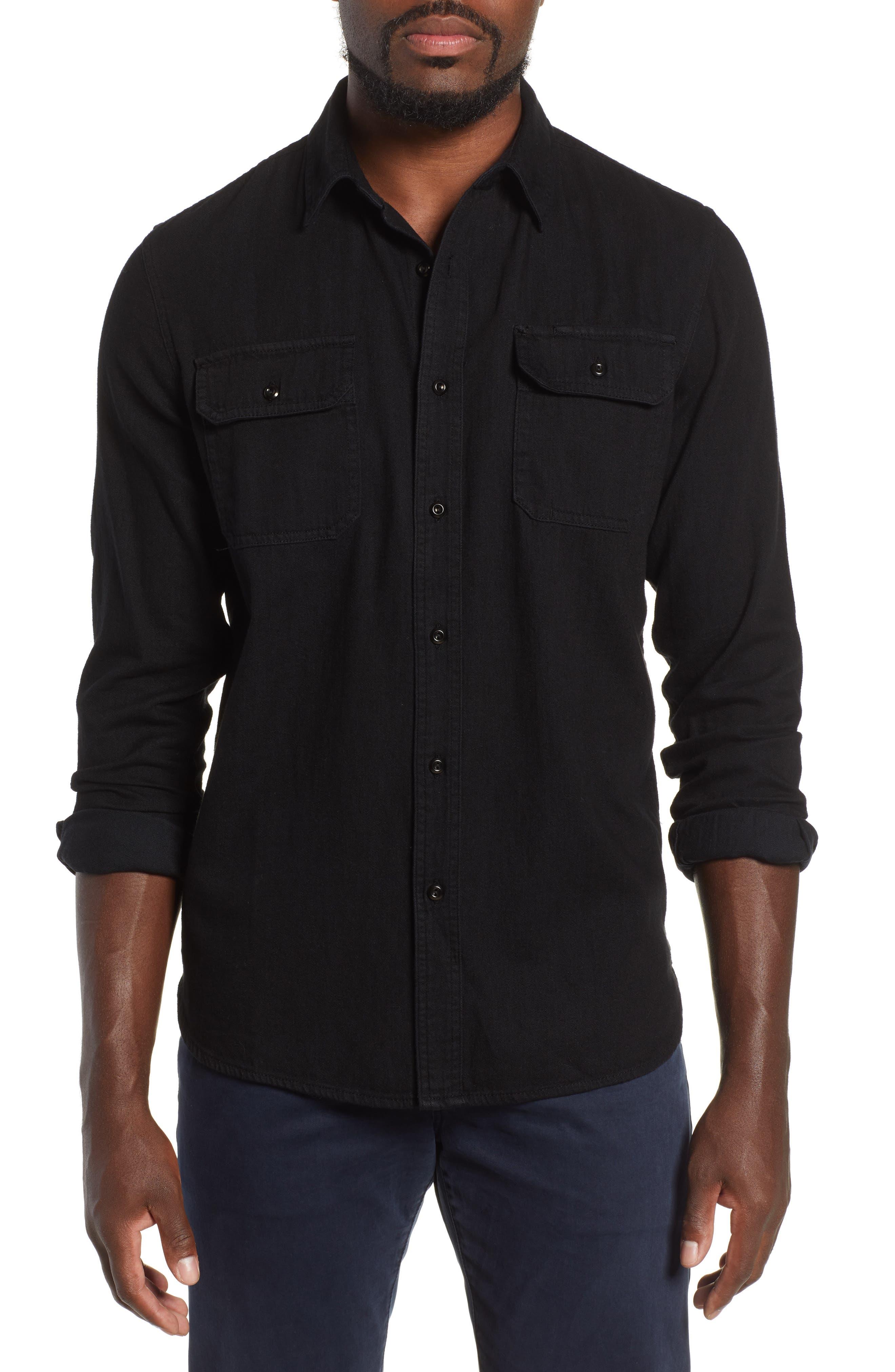 Benning Slim Fit Utility Shirt,                         Main,                         color, PIPELINE