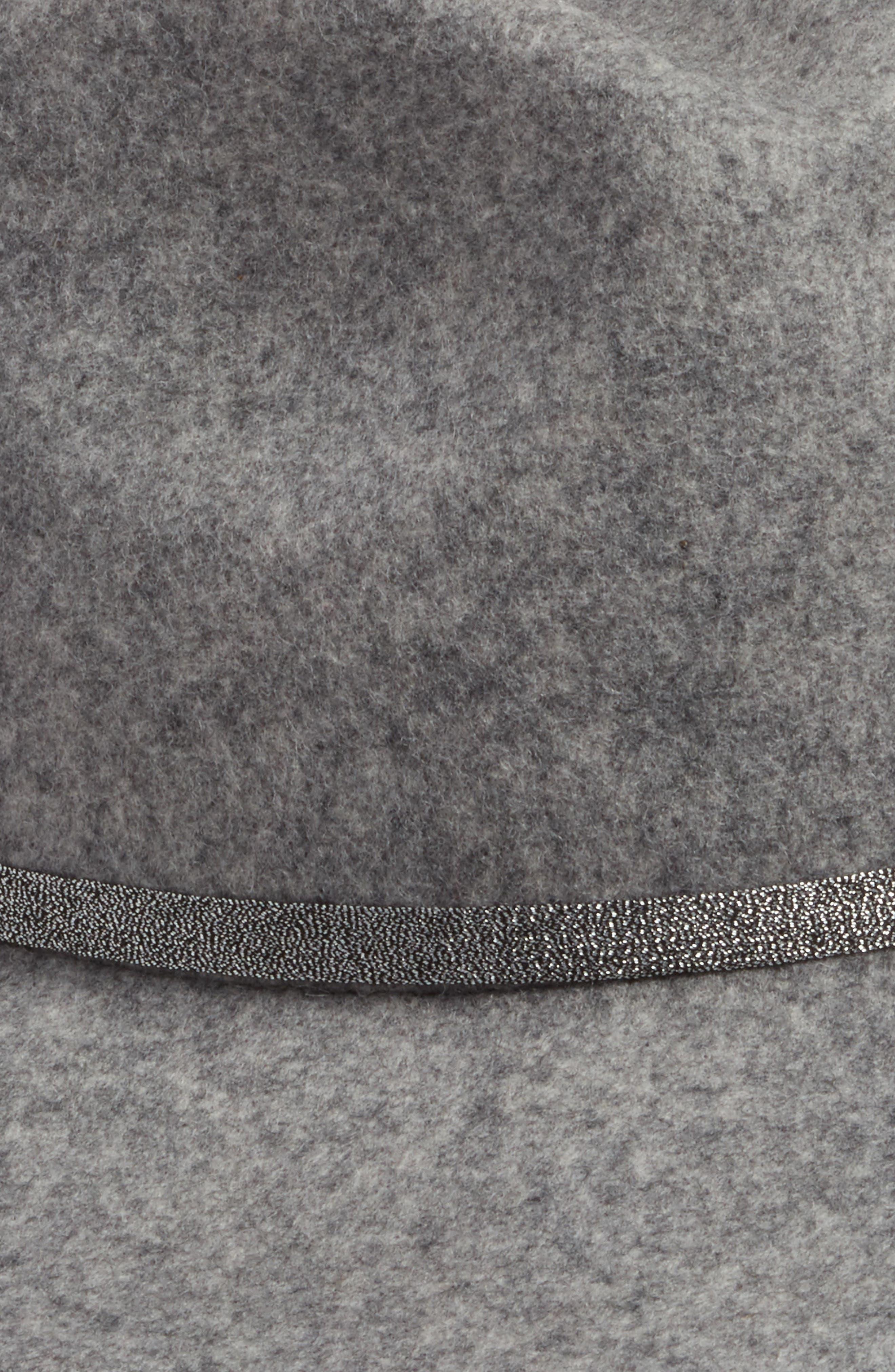 Metallic Band Wool Felt Panama Hat,                             Alternate thumbnail 7, color,