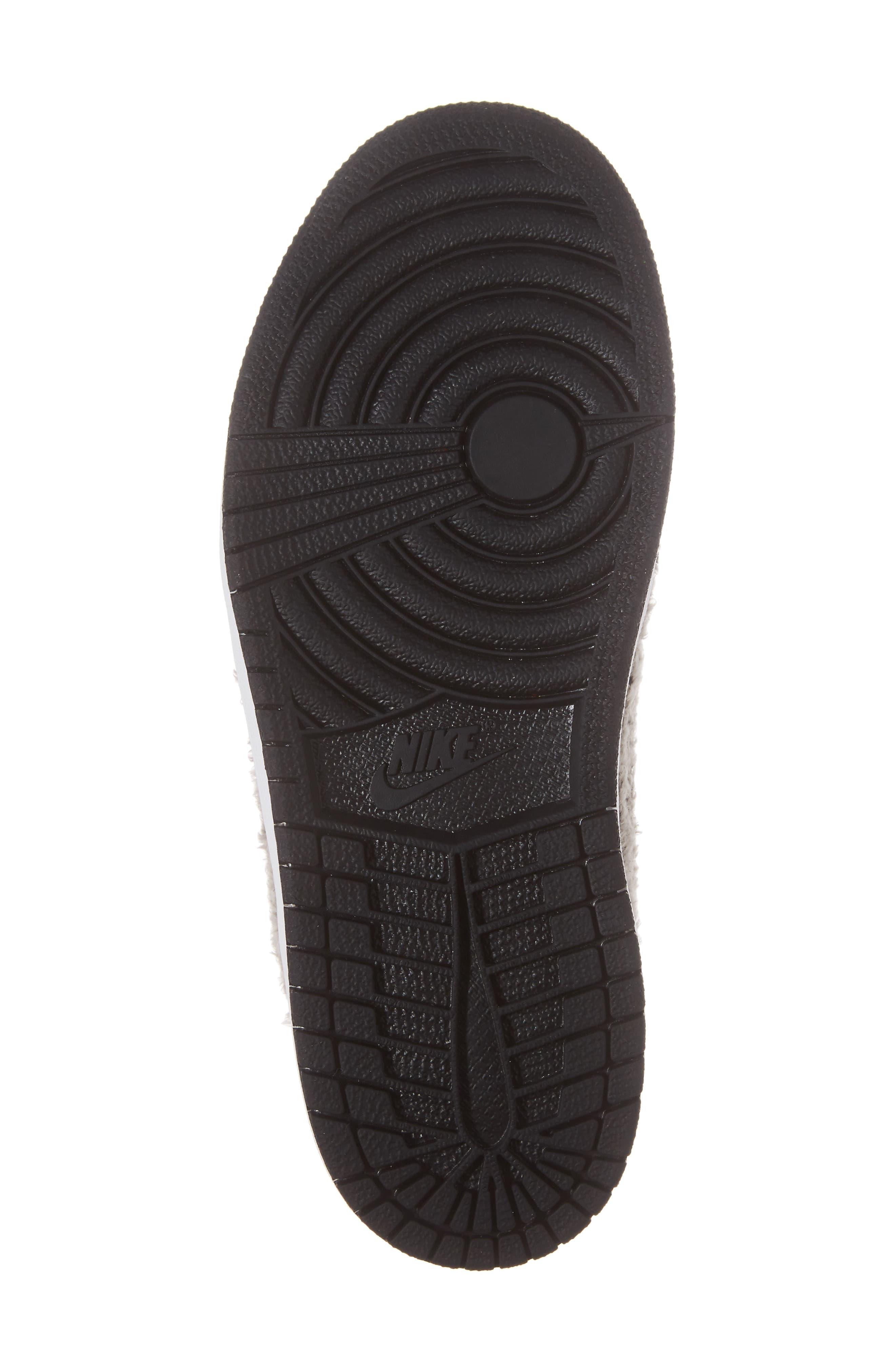 Nike Air Jordan 1 Retro Faux Fur High Top Sneaker,                             Alternate thumbnail 6, color,                             001