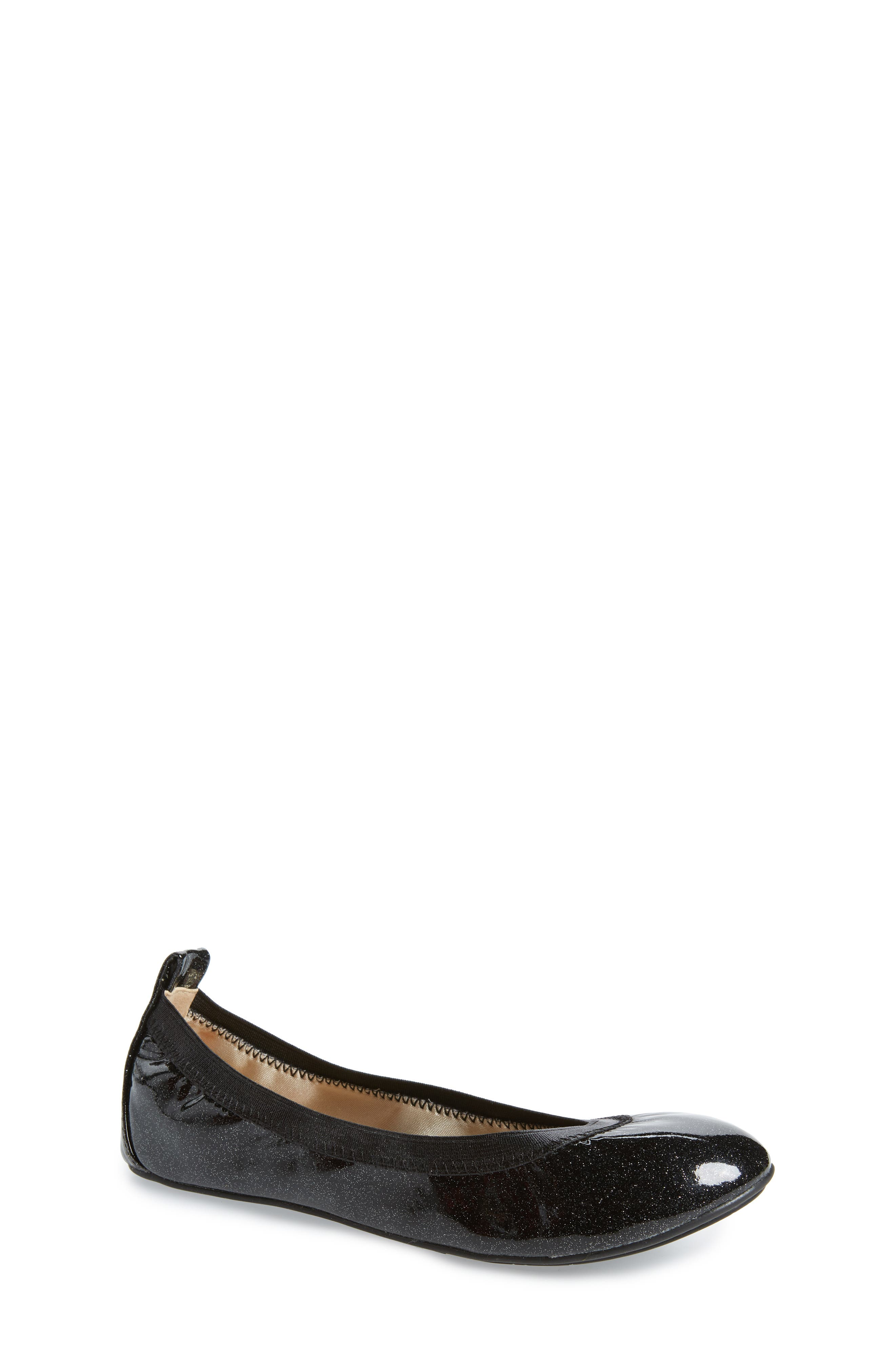 Miss Samara Ballet Flat,                             Main thumbnail 1, color,                             BLACK PATENT GLITTER