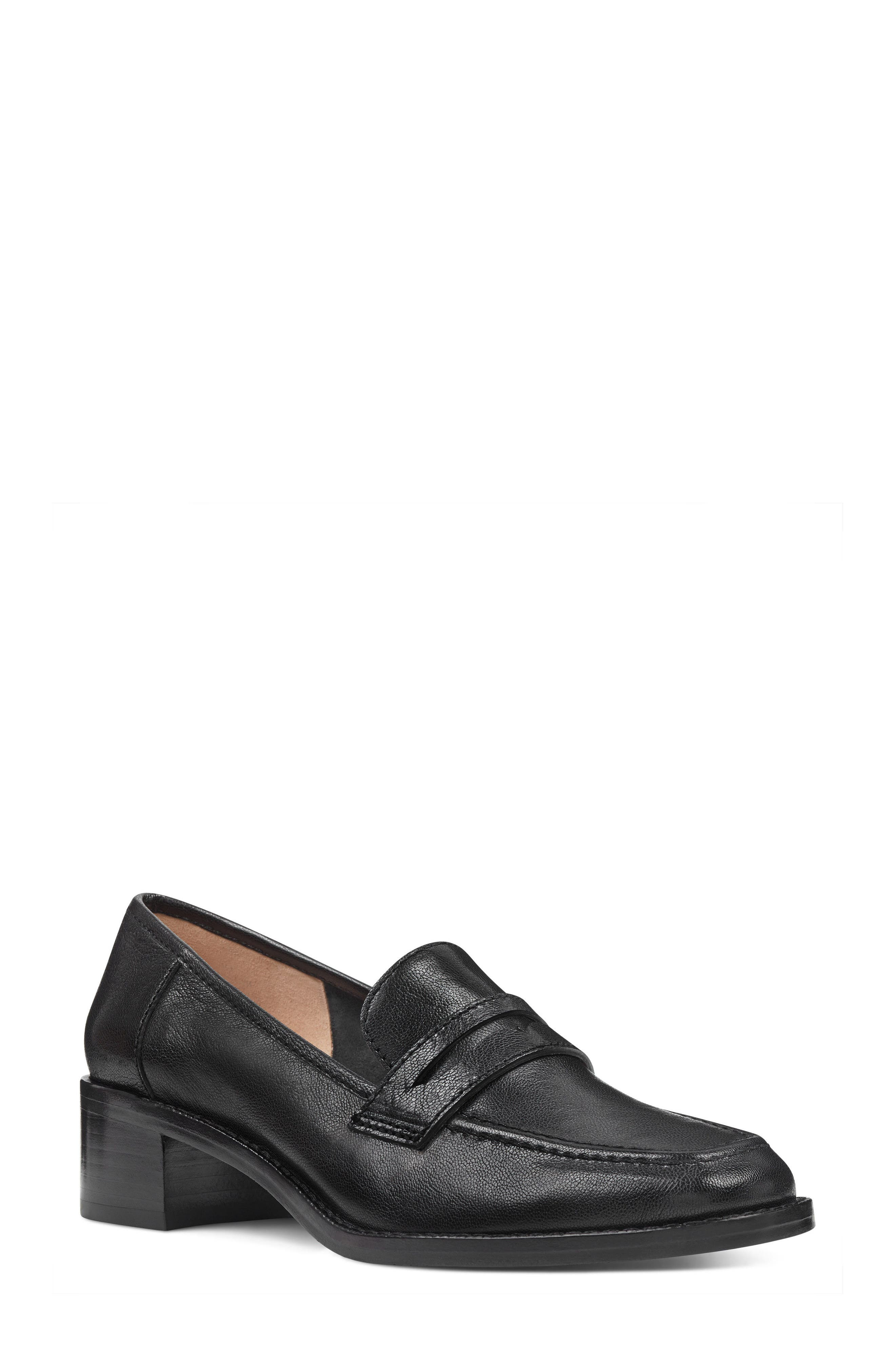 Kimmy - 40th Anniversary Capsule Collection Penny Loafer,                             Main thumbnail 1, color,                             BLACK LEATHER