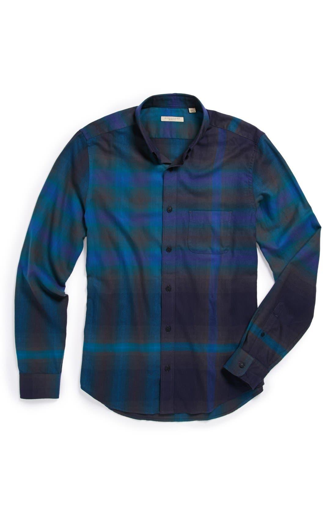 Brit 'Adken' Check Sport Shirt,                             Alternate thumbnail 3, color,                             412