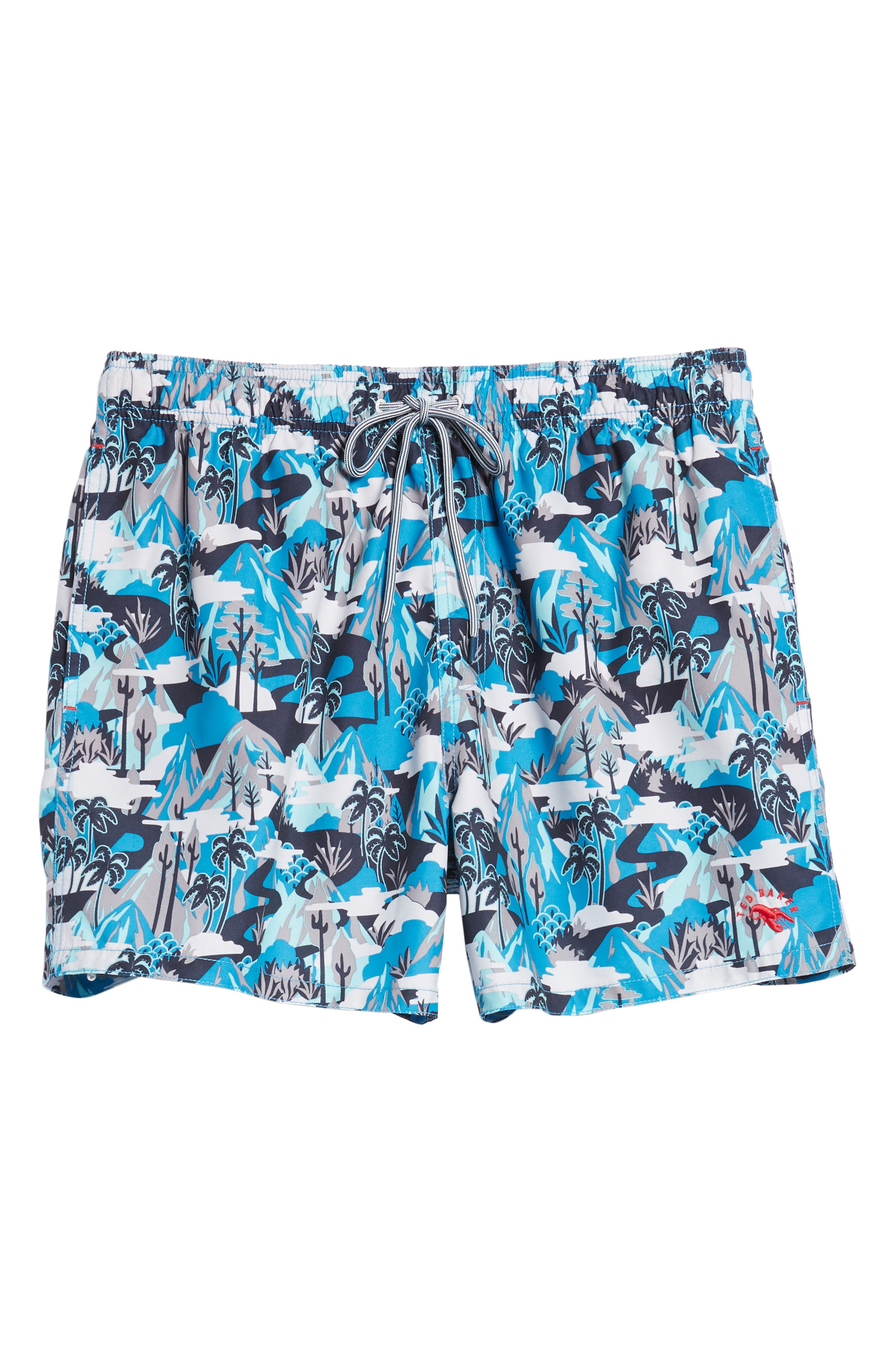 Karner Print Swim Trunks,                             Alternate thumbnail 6, color,                             421