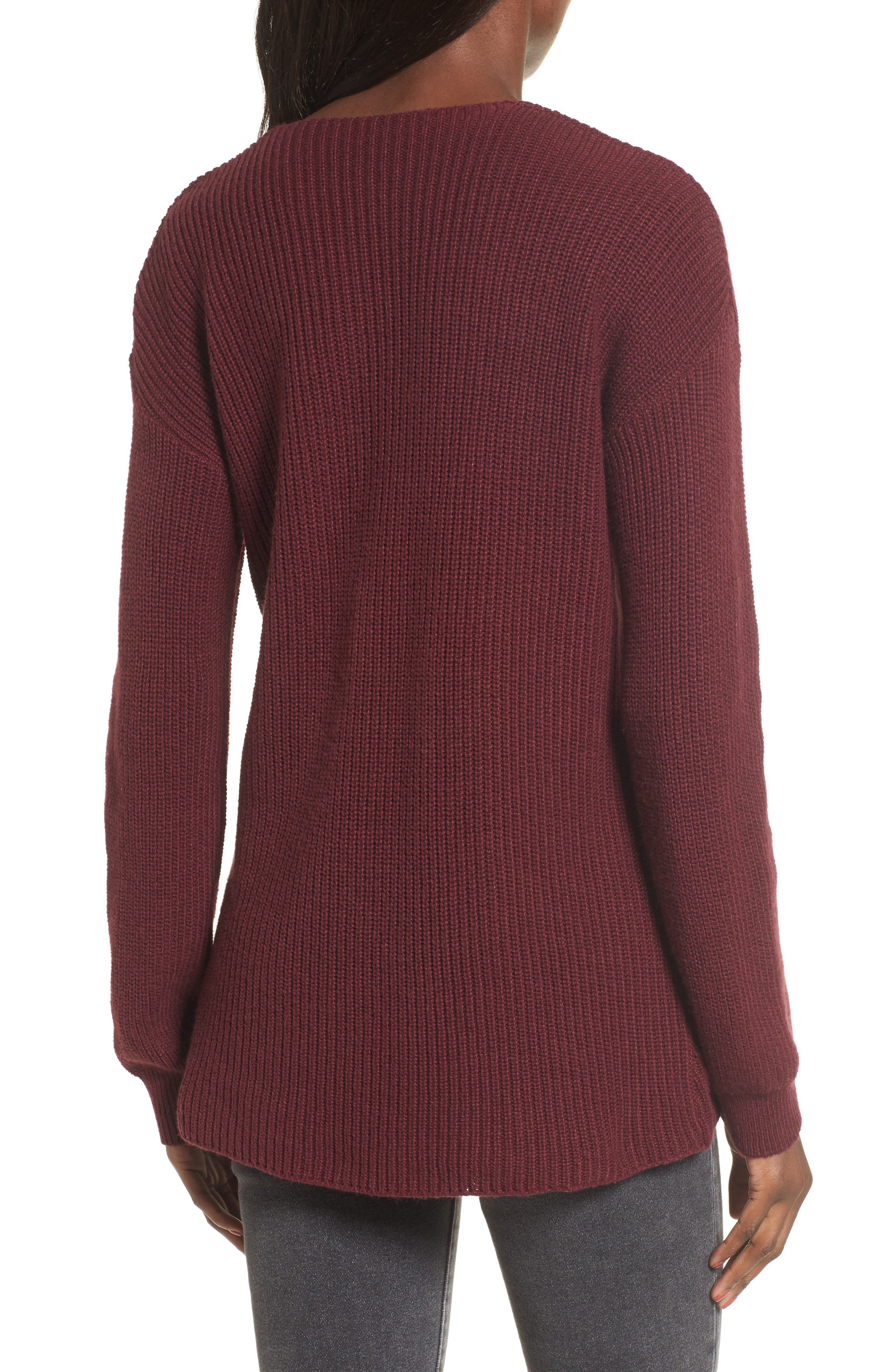 V-Neck Sweater,                             Alternate thumbnail 14, color,
