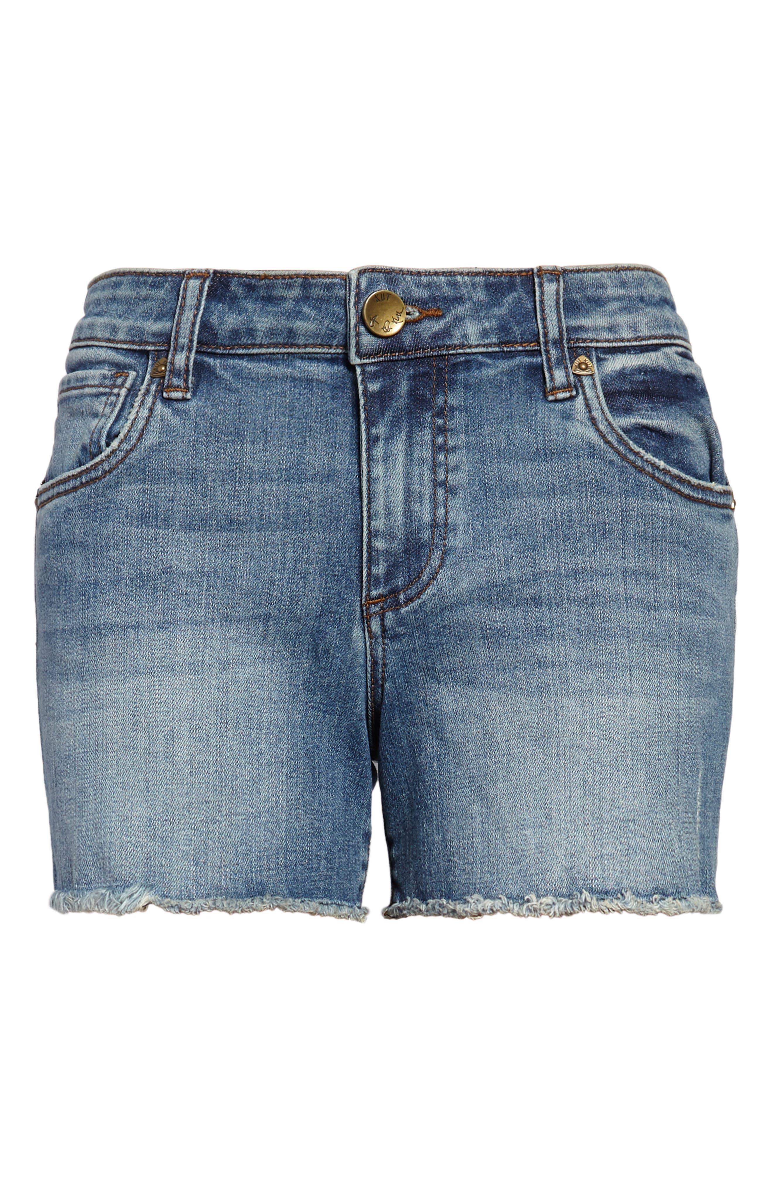 Gidget Denim Shorts,                             Alternate thumbnail 7, color,                             CONSOLIDATED