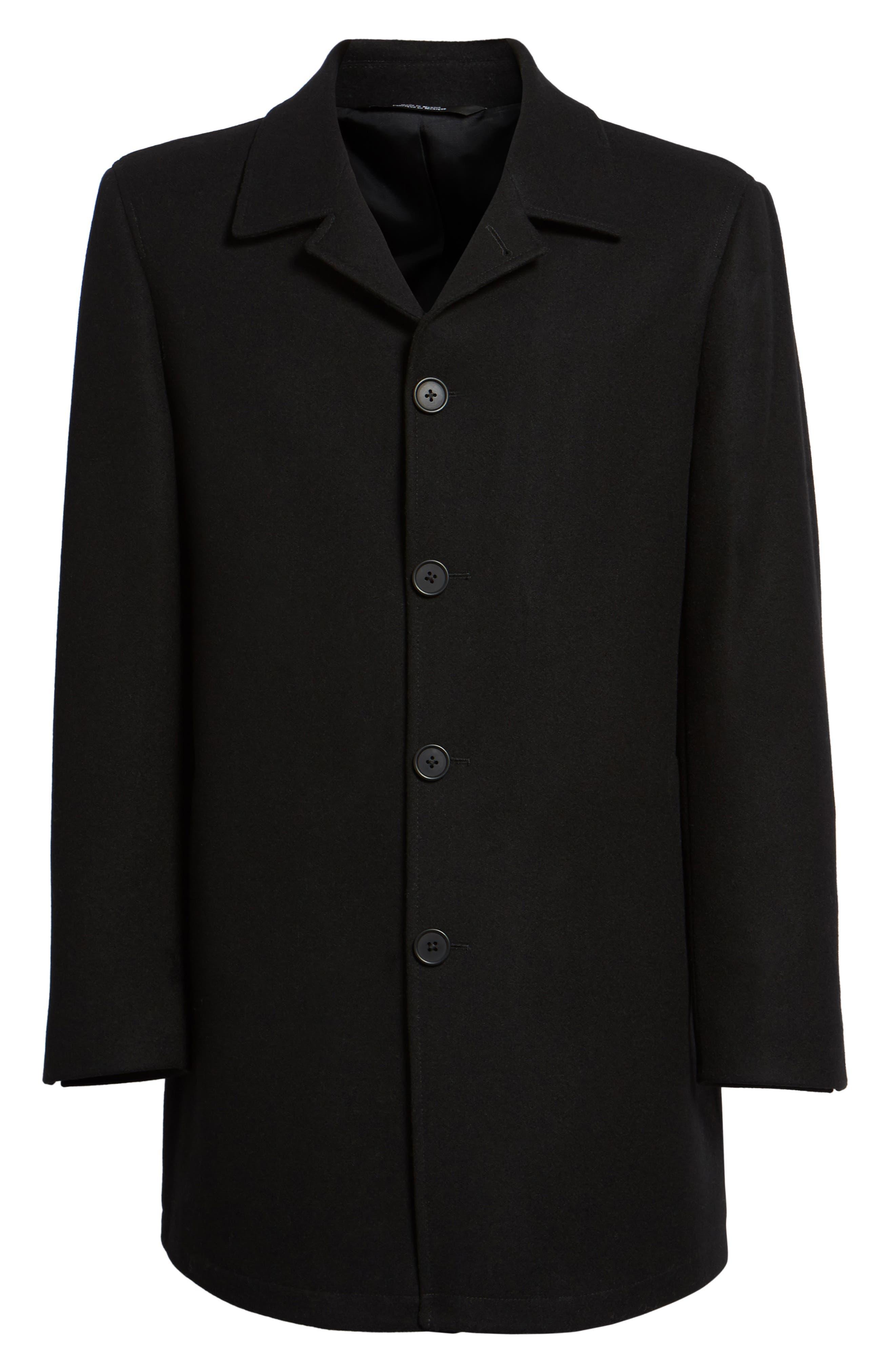 Wool Blend Car Coat,                             Alternate thumbnail 5, color,                             001