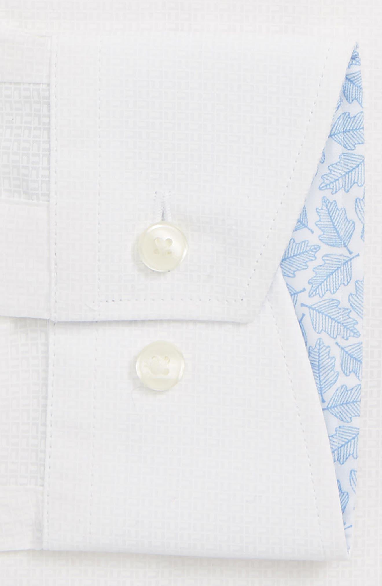 Sppotz Trim Fit Dot Dress Shirt,                             Alternate thumbnail 2, color,                             WHITE