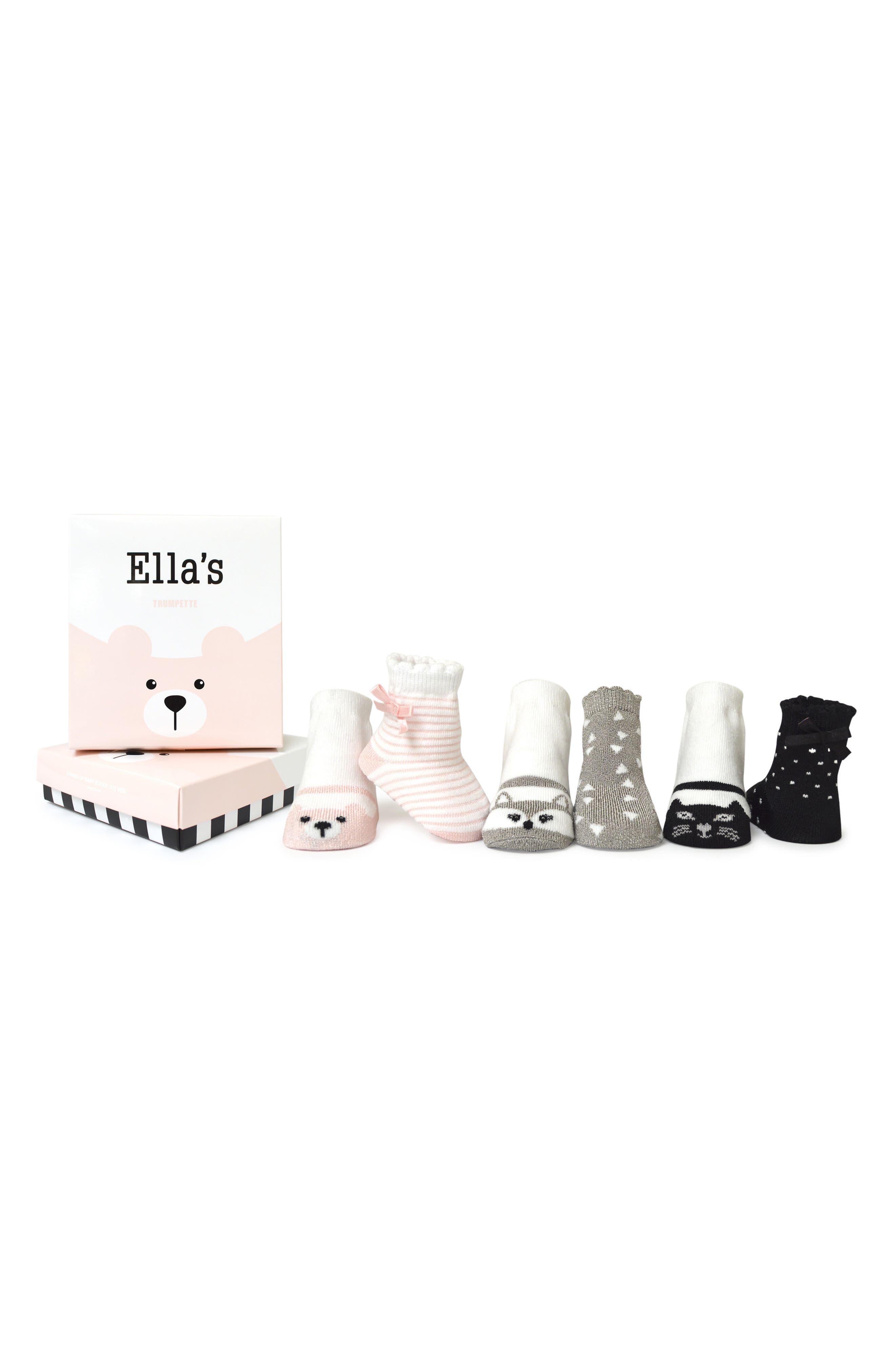Ella's 6-Pack Socks,                             Main thumbnail 1, color,                             100