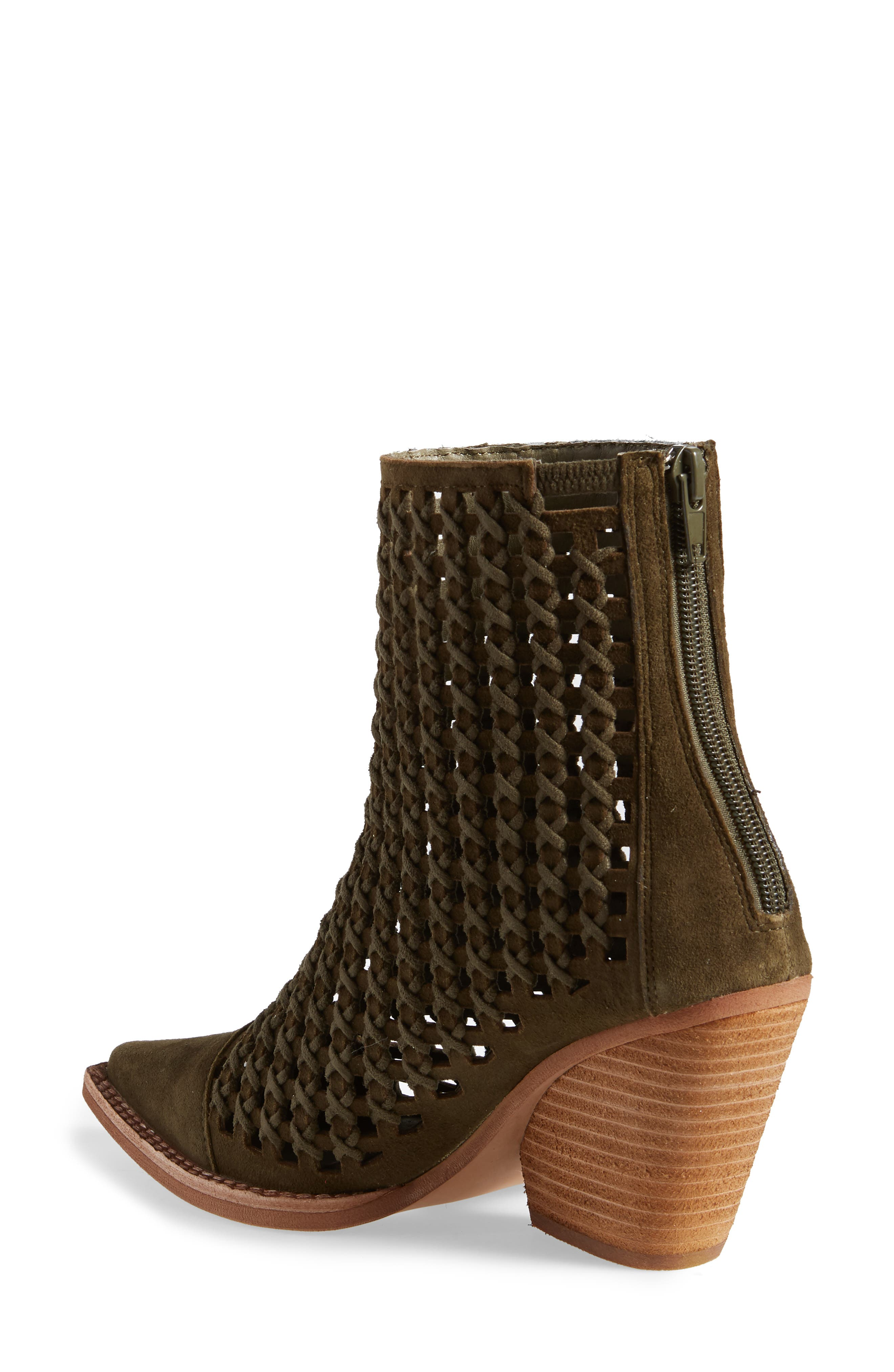 Oakwood Perforated Bootie,                             Alternate thumbnail 2, color,                             KHAKI SUEDE