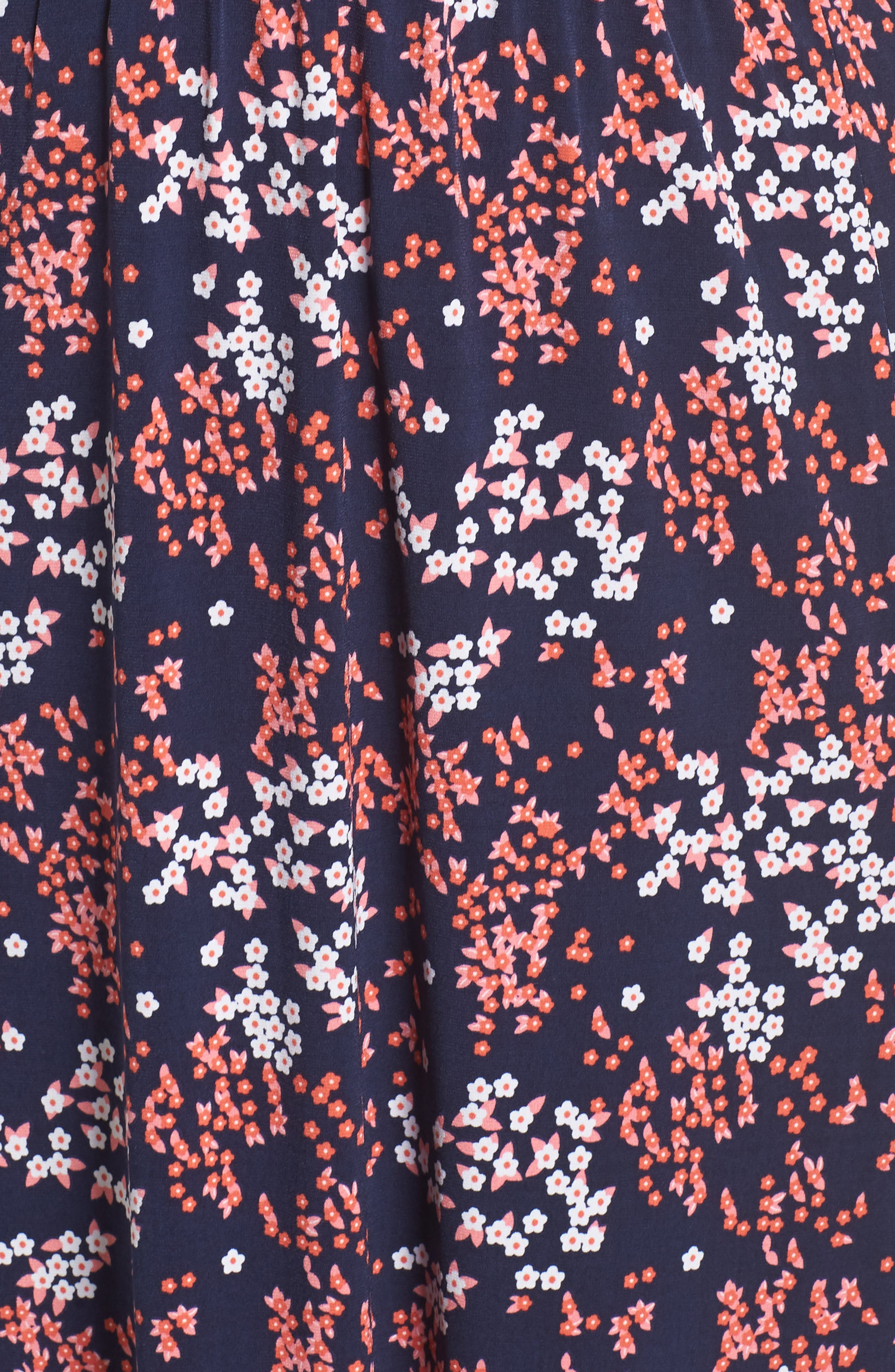 Floral Print Maxi Dress,                             Alternate thumbnail 6, color,