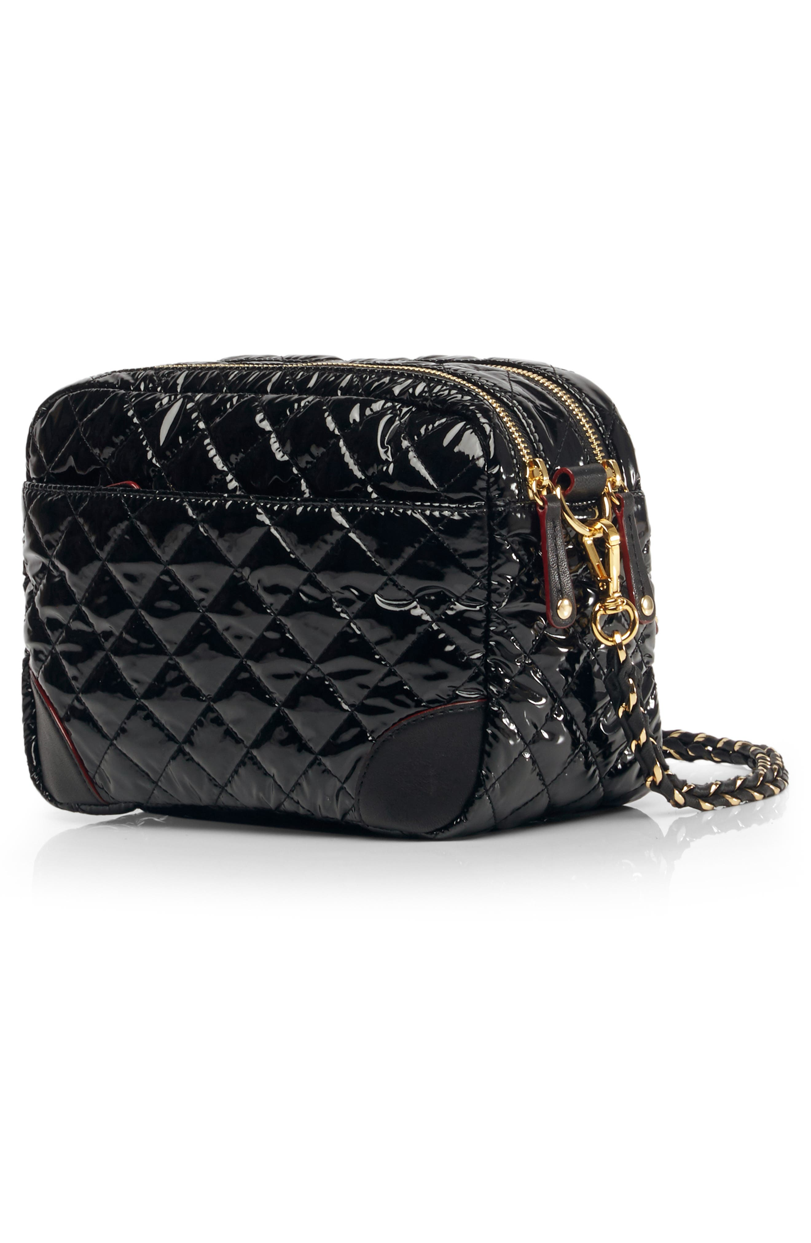 Small Crosby Bag,                             Alternate thumbnail 3, color,                             BLACK LACQUER