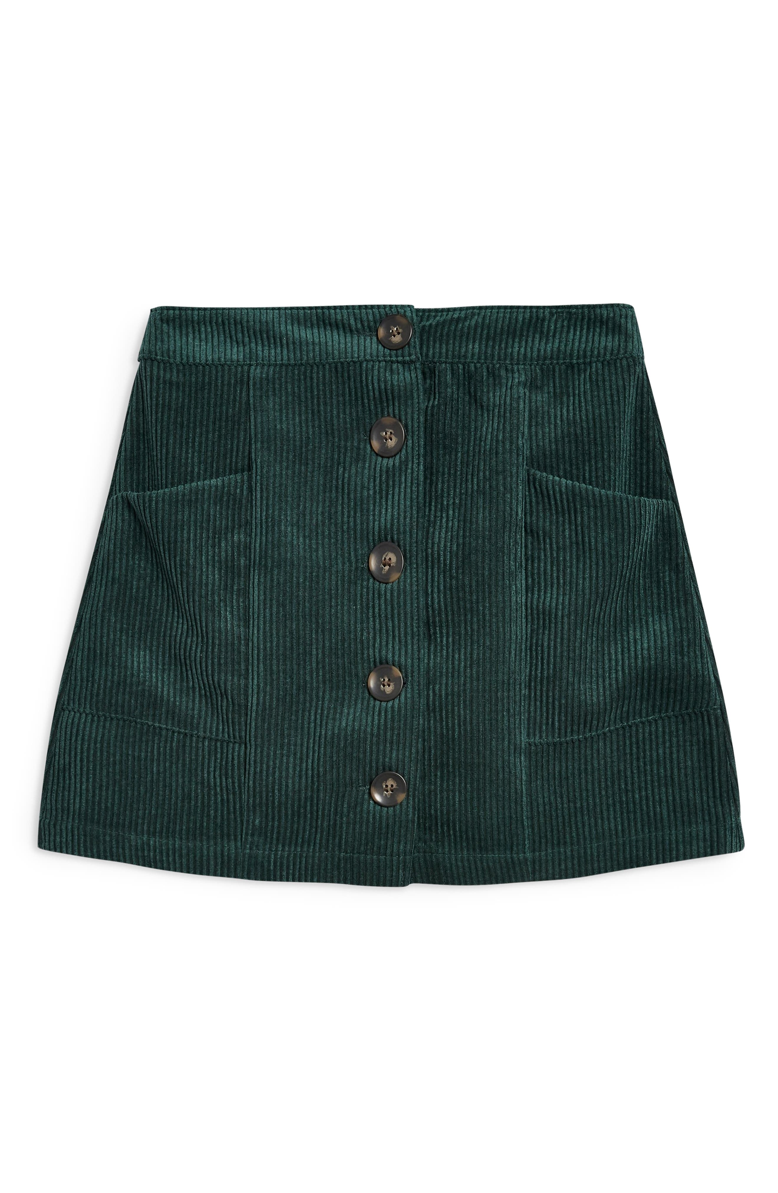 Corduroy Miniskirt,                             Alternate thumbnail 3, color,                             GREEN