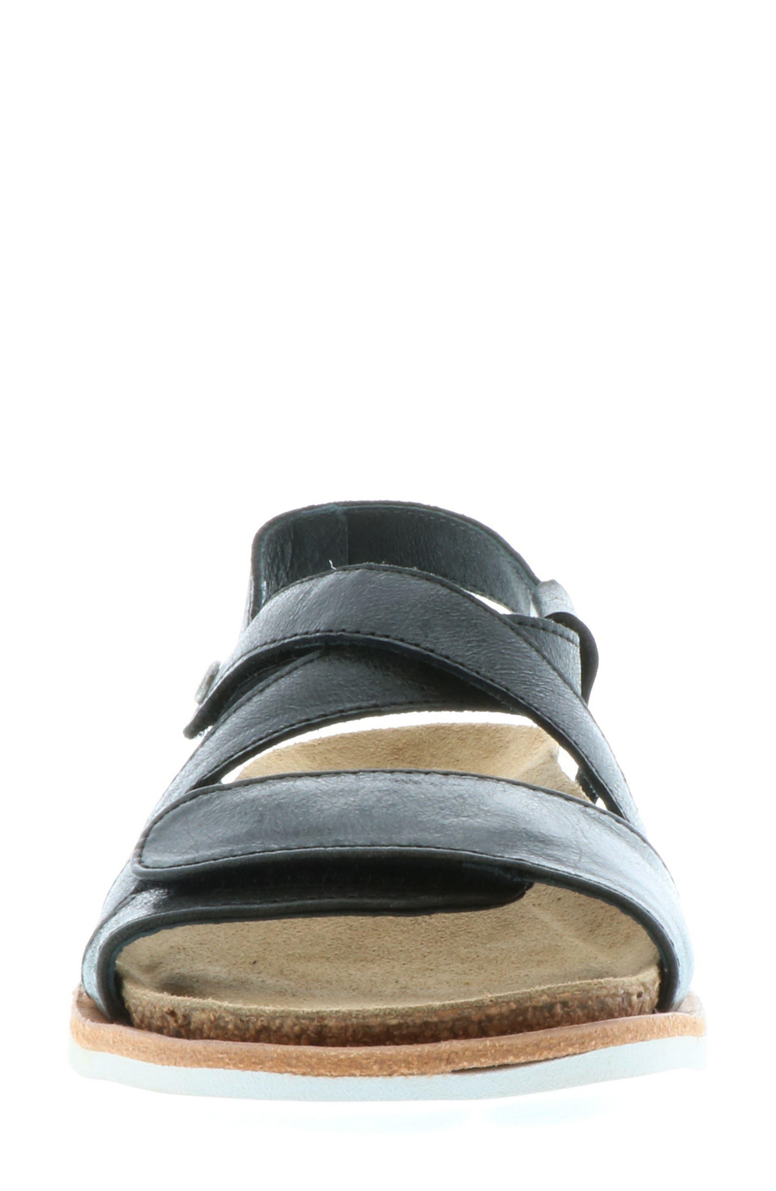 Sunstone Sandal,                             Alternate thumbnail 4, color,                             BLACK SUMMER