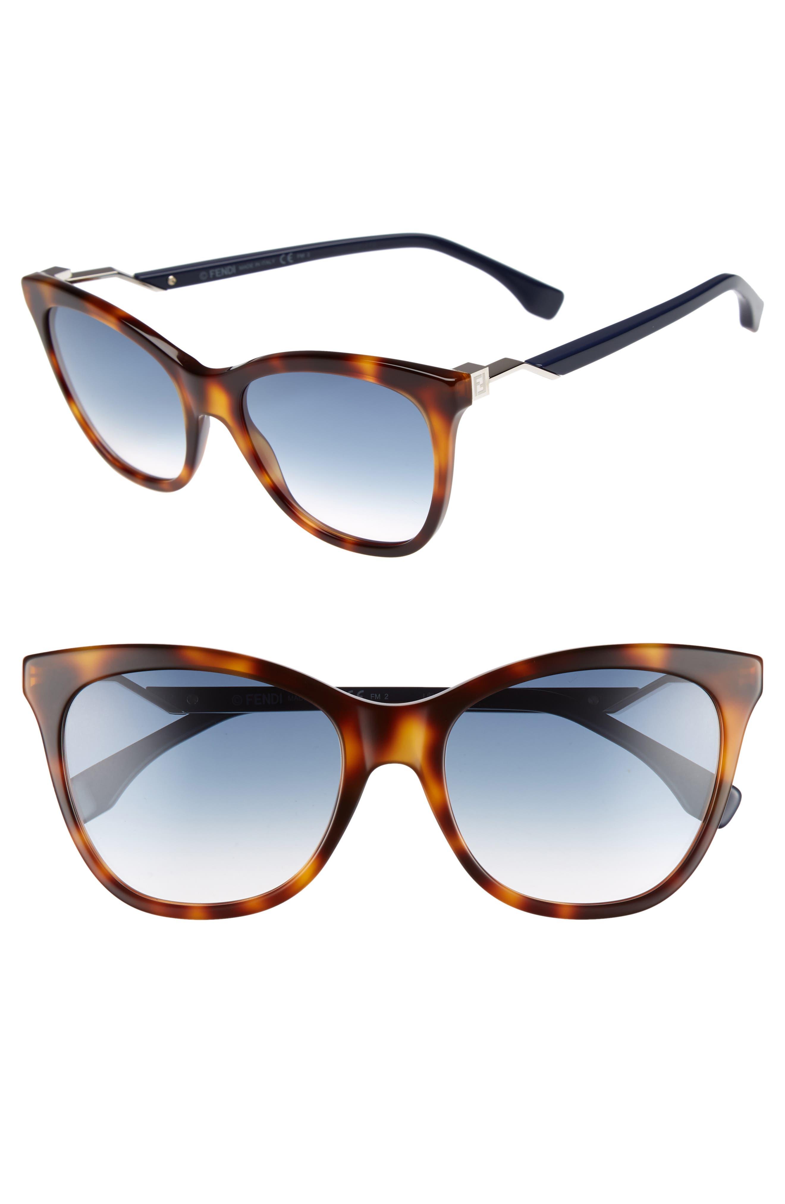 Cube 55mm Cat Eye Sunglasses,                         Main,                         color, 413