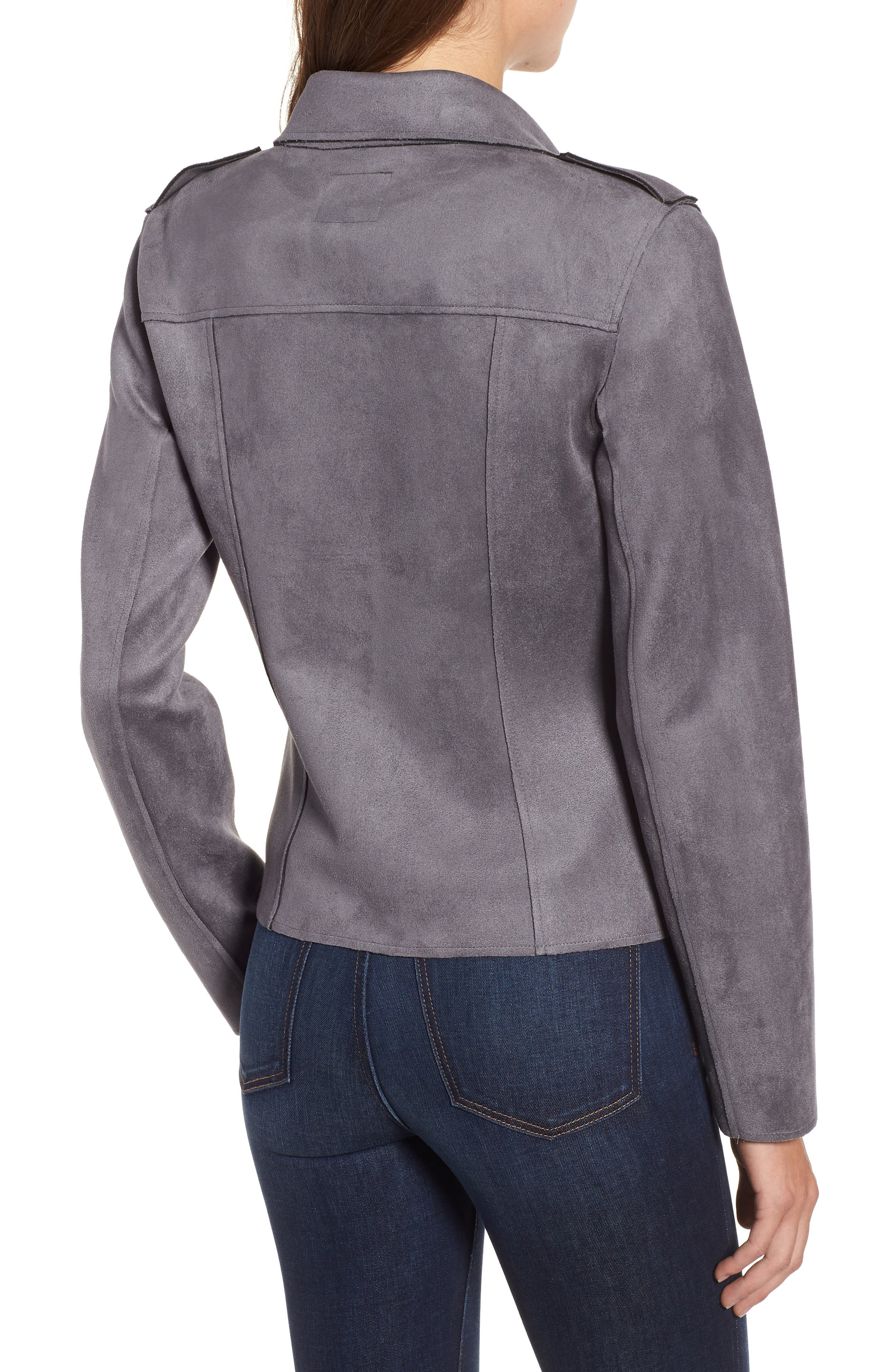 KUT FROM THE KLOTH,                             Haddie Faux Suede Moto Jacket,                             Alternate thumbnail 2, color,                             026