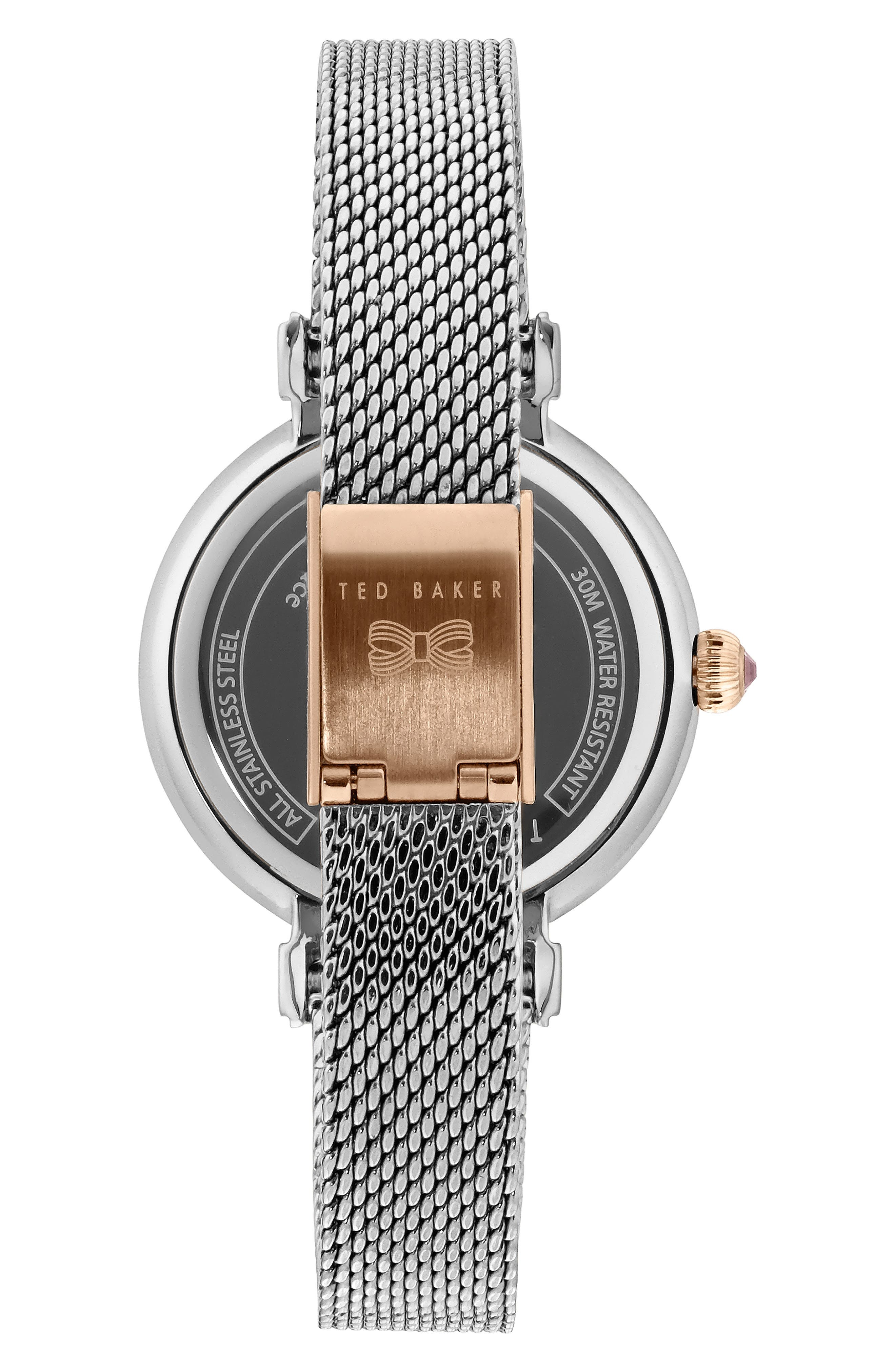 Jessica Mesh Strap Watch, 30mm,                             Alternate thumbnail 2, color,                             040