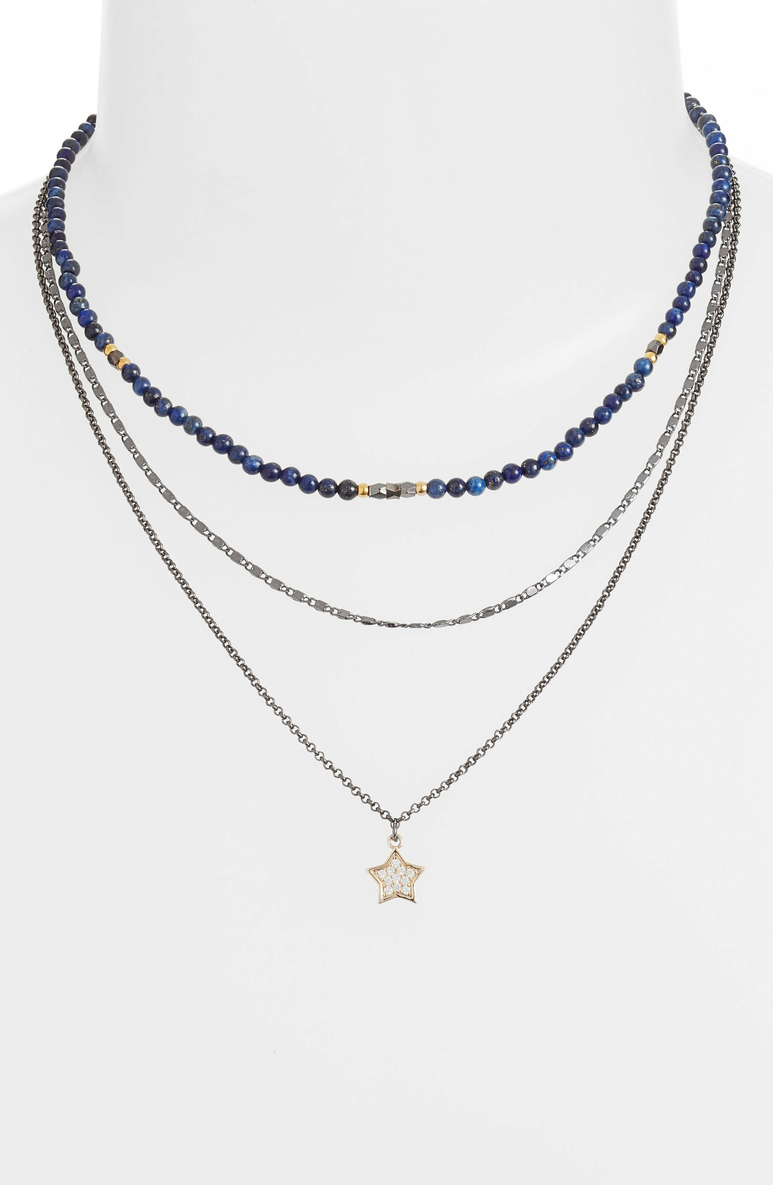 Star Charm Layered Necklace,                             Alternate thumbnail 2, color,                             400