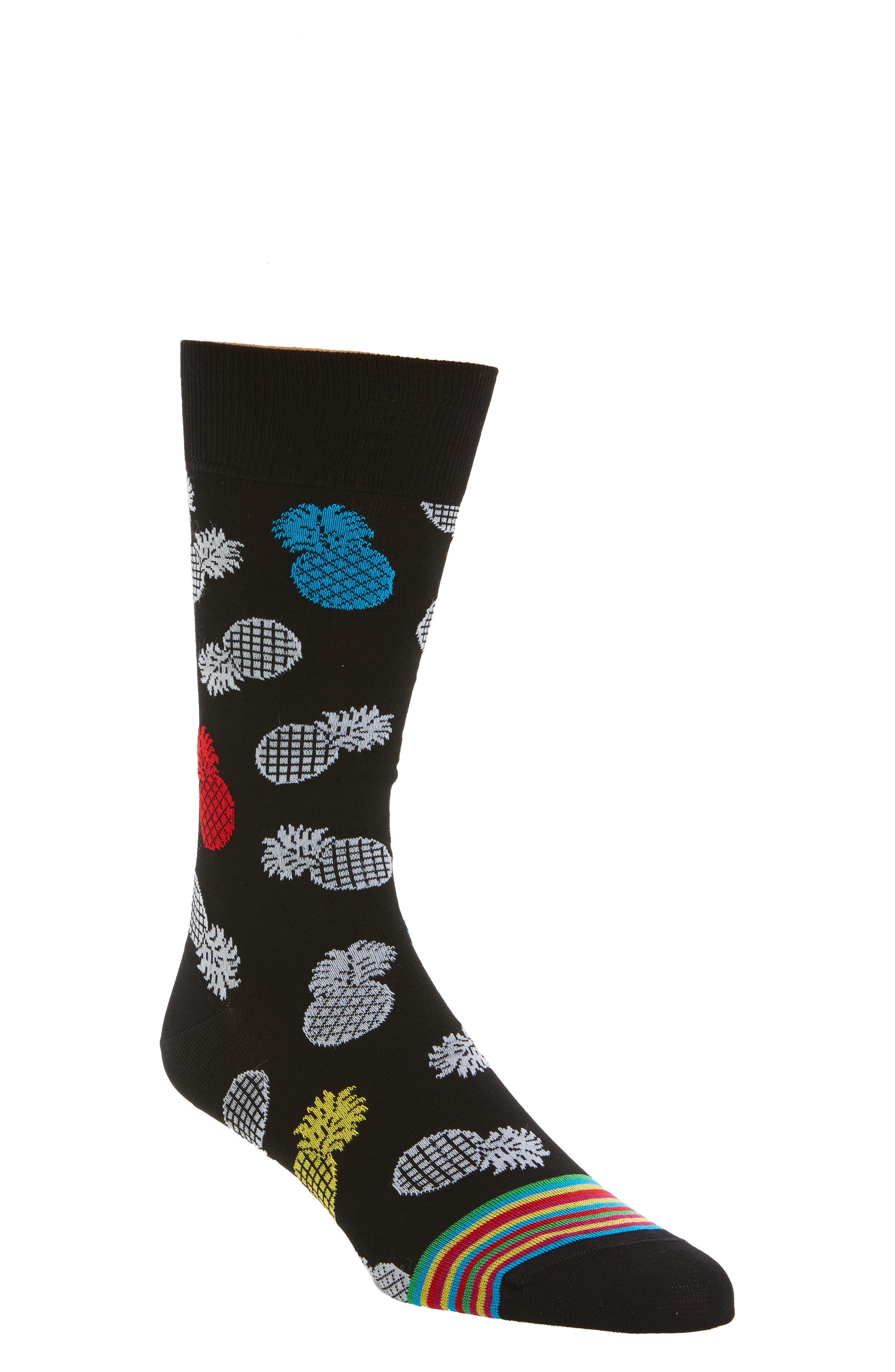 Pineapple Socks,                             Main thumbnail 1, color,                             001