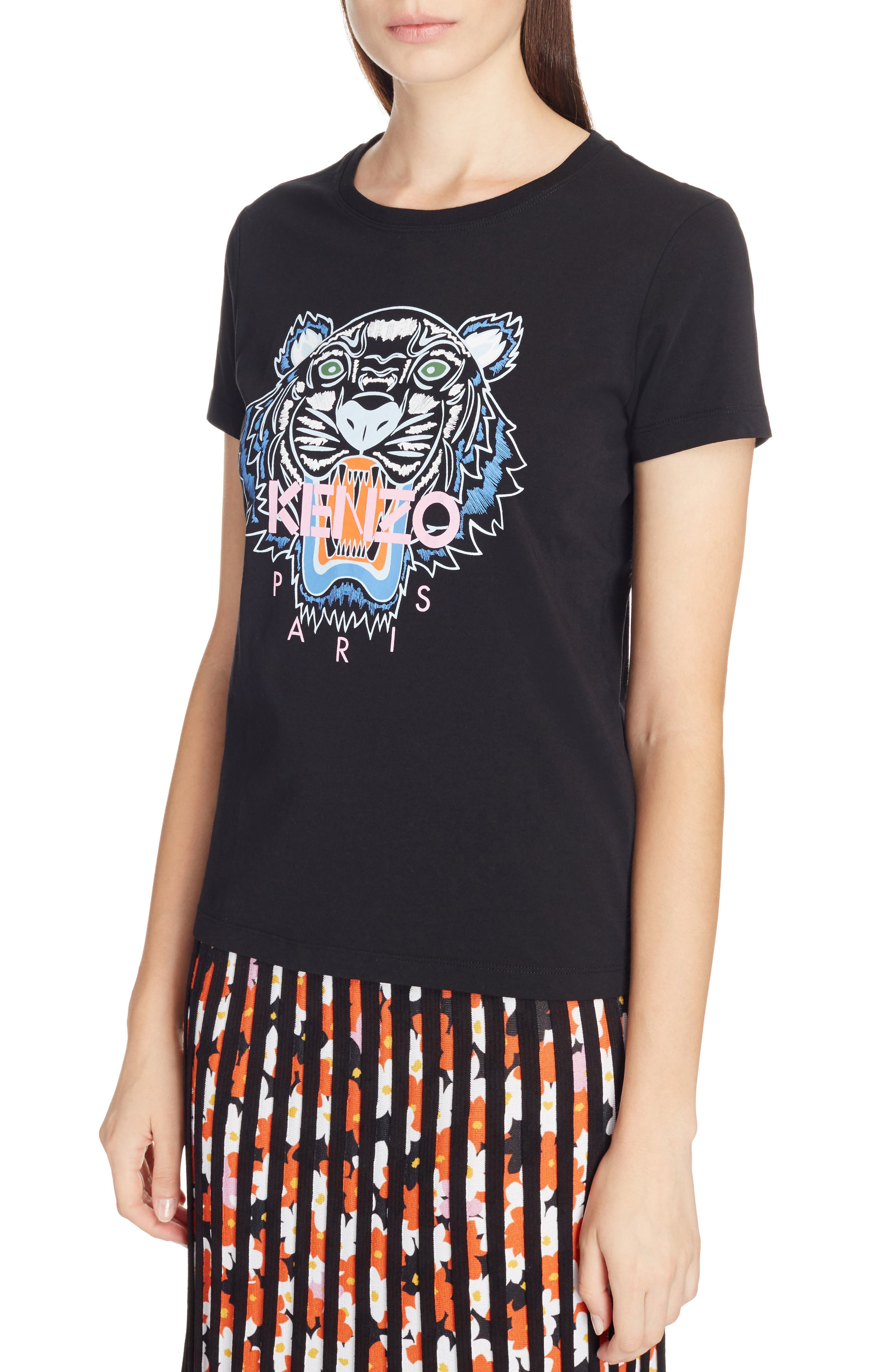 Classic Tiger Graphic Tee,                             Alternate thumbnail 4, color,                             001