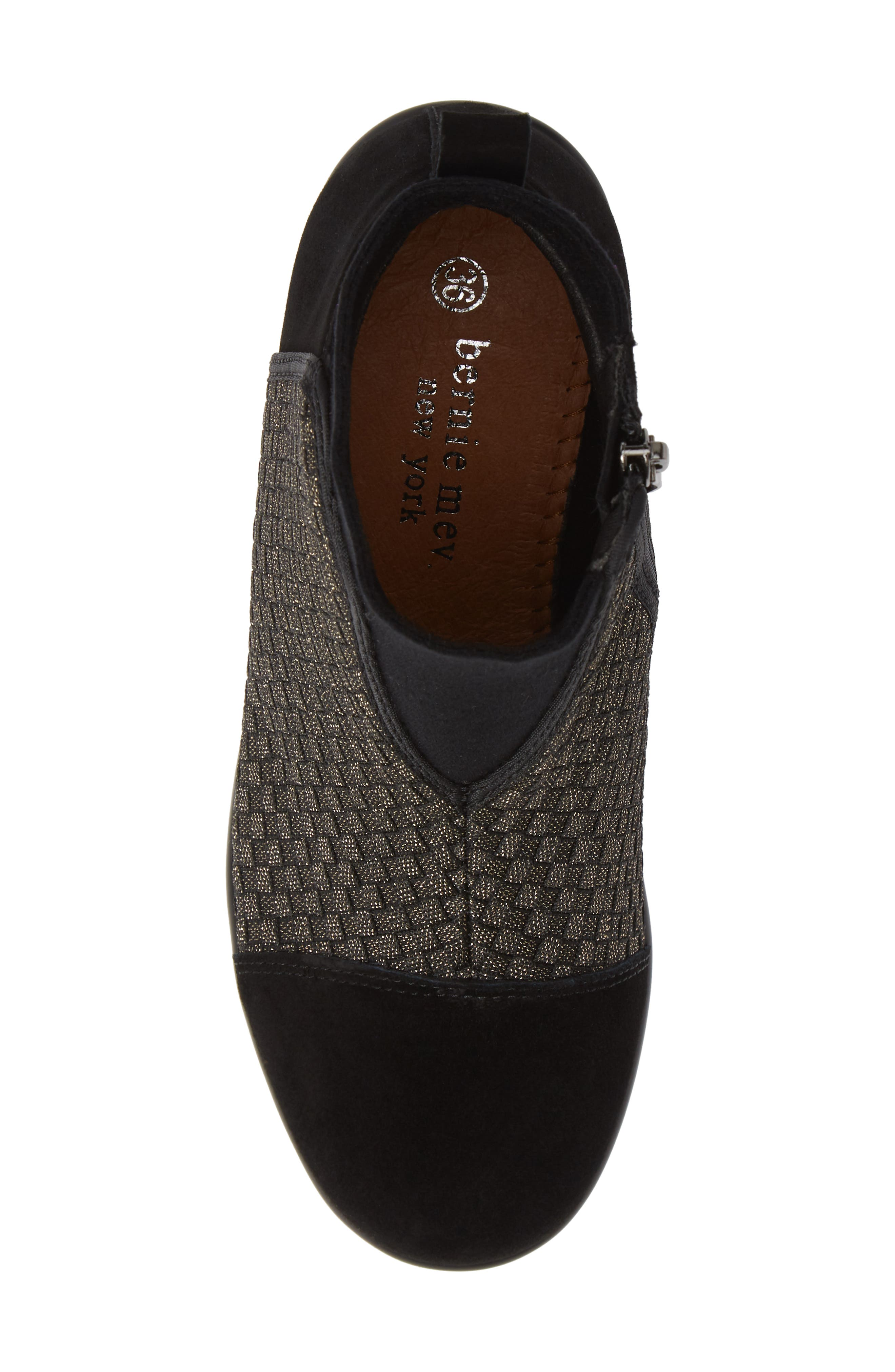 Zoe Wedge Bootie,                             Alternate thumbnail 5, color,                             GOLD BLACK SHIMMER LEATHER