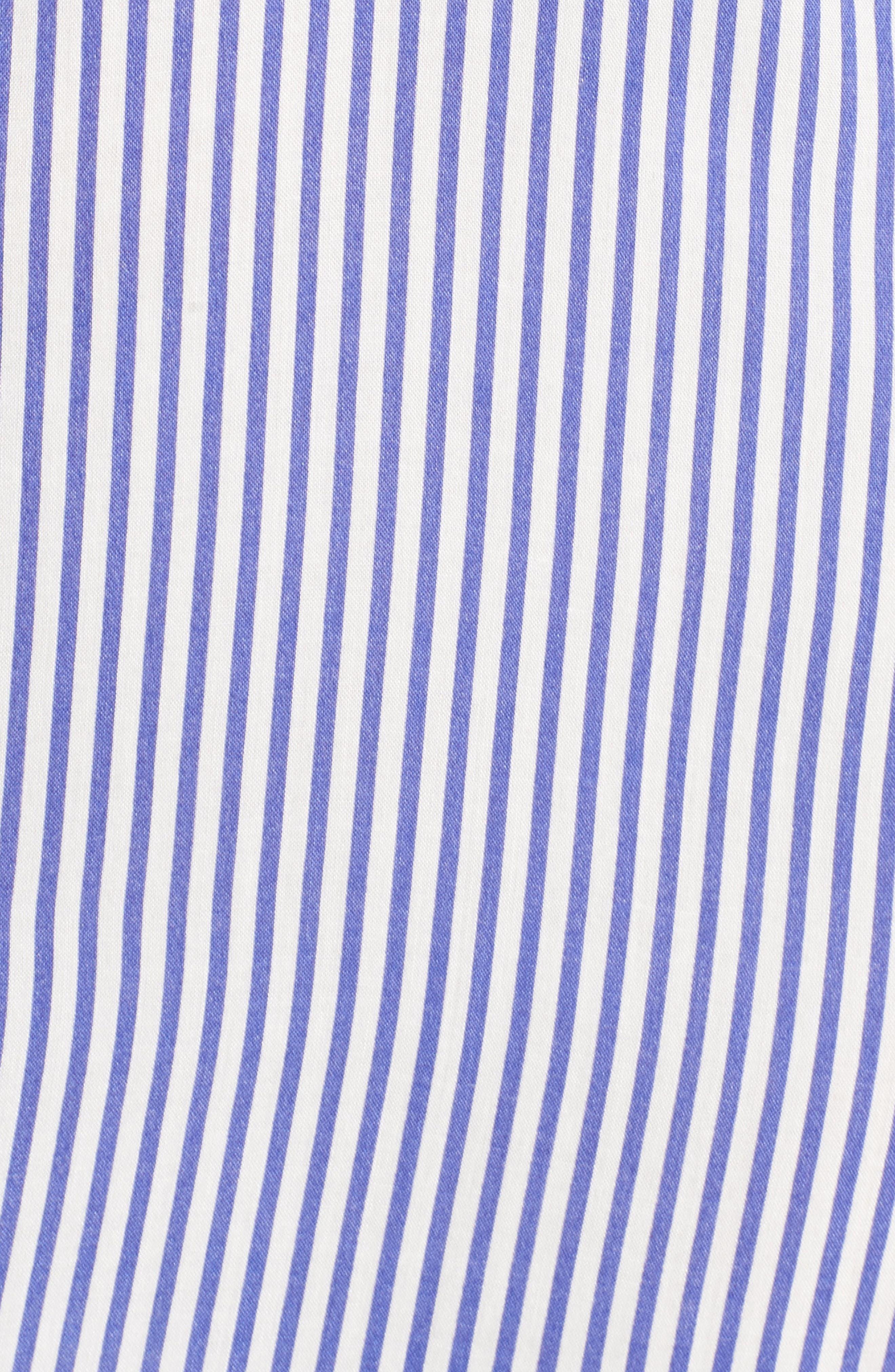 Bishop + Young Stripe Tie Waist Shirtdress,                             Alternate thumbnail 5, color,                             400