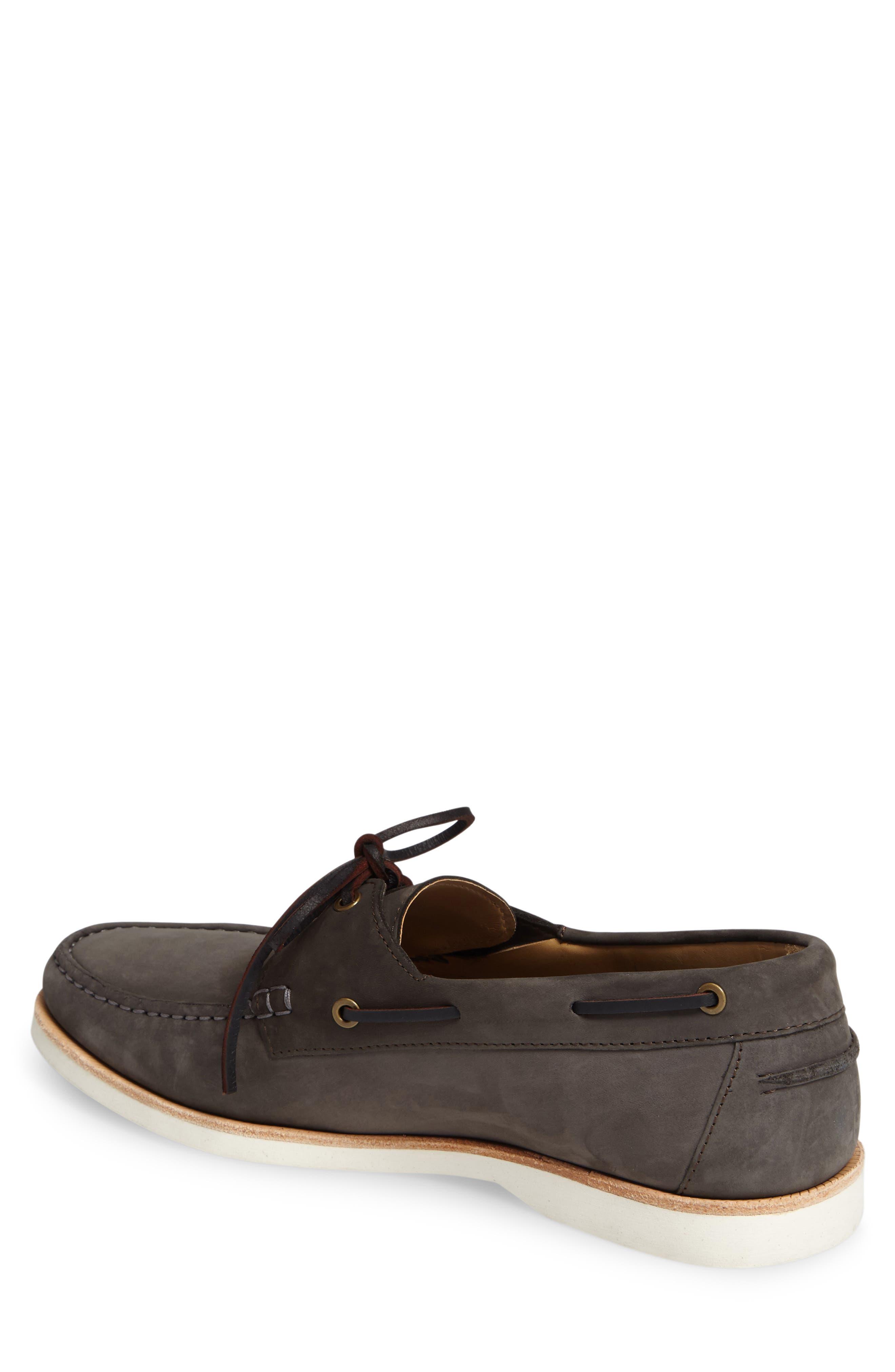 Cooper Boat Shoe,                             Alternate thumbnail 2, color,                             SLATE NUBUCK LEATHER