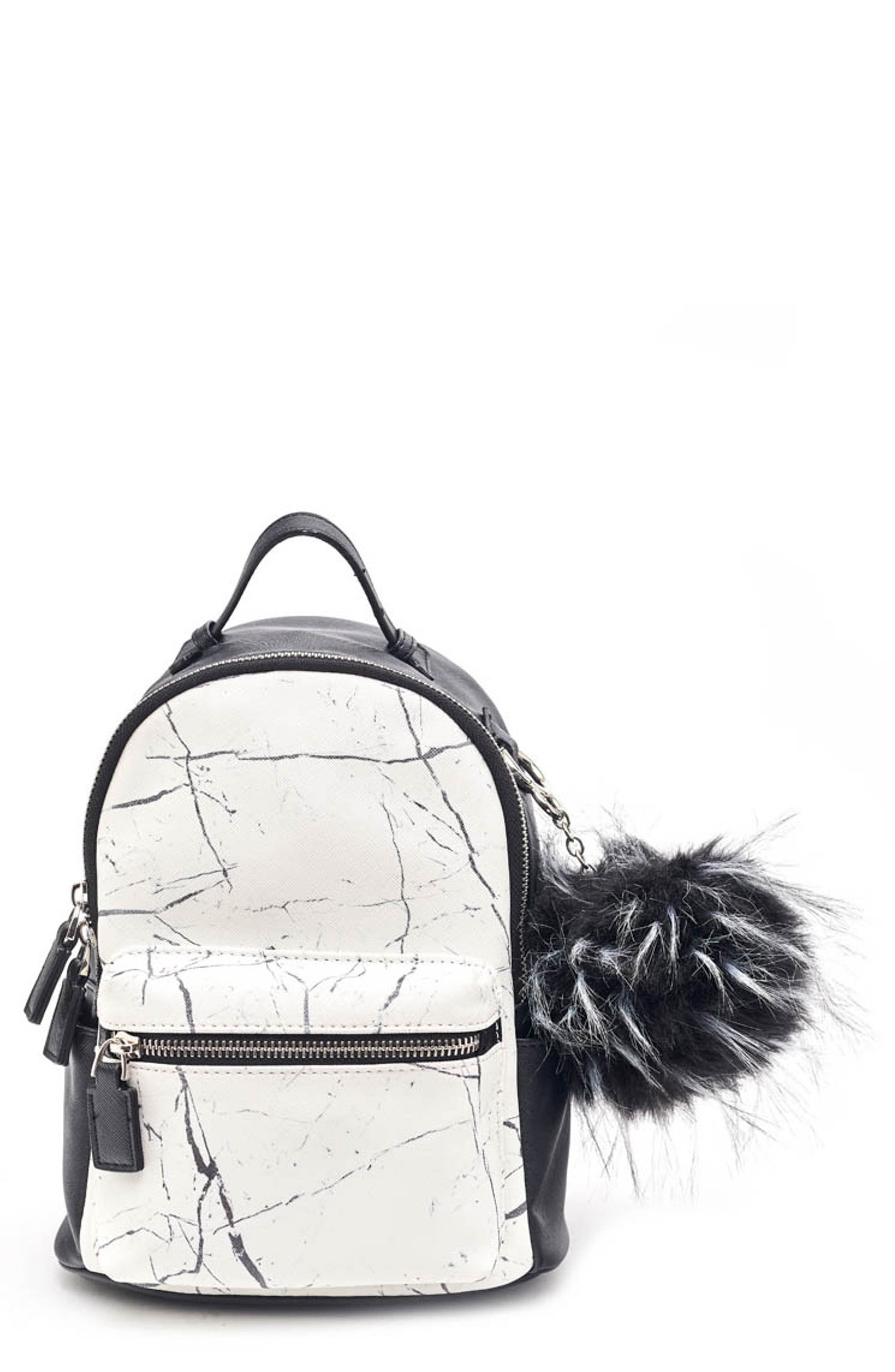 Like Dreams Remy Marble Print Faux Leather Mini Backpack -
