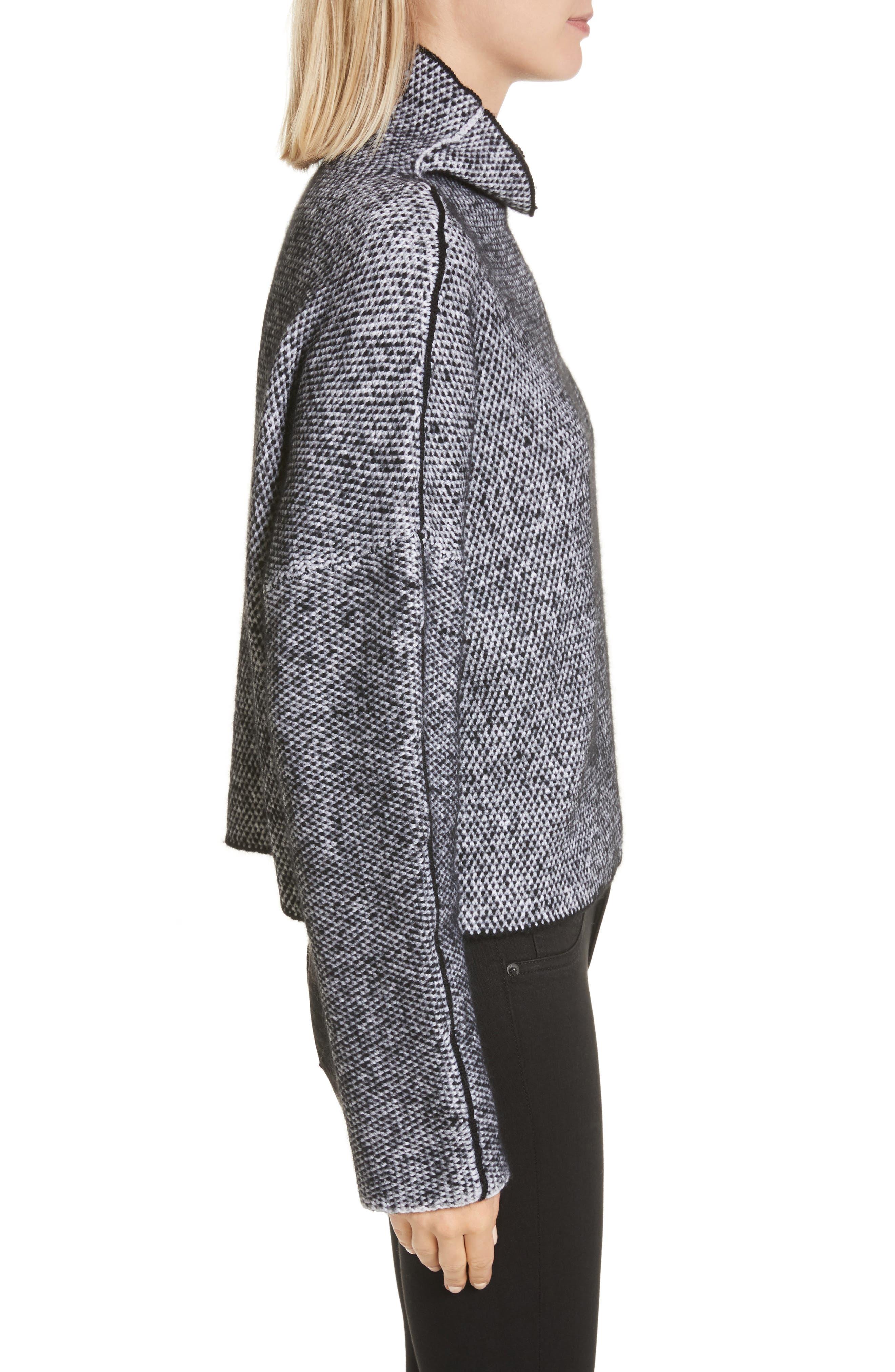 Robin Merino Wool Blend Sweater,                             Alternate thumbnail 3, color,                             001
