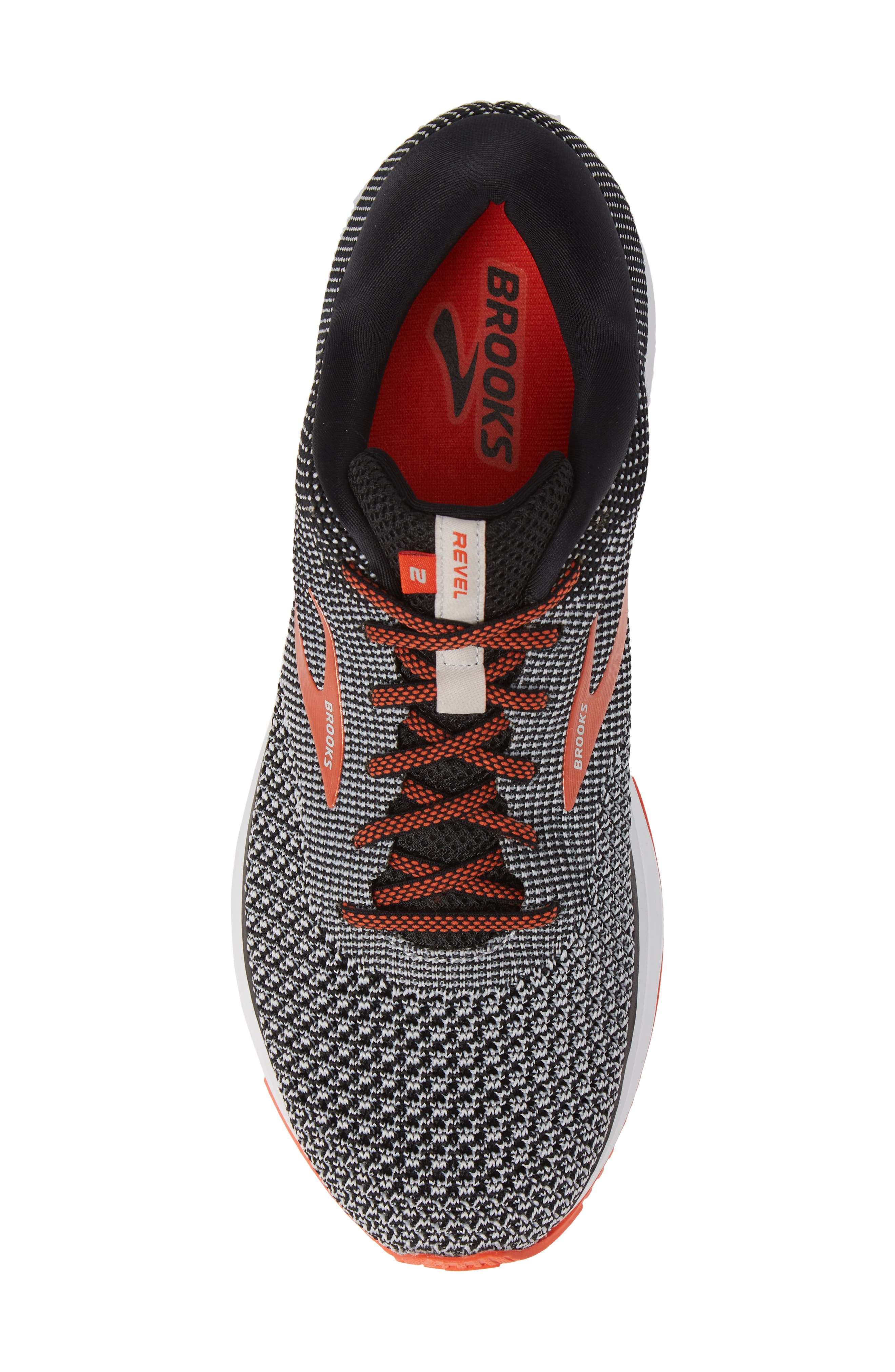 Revel 2 Running Shoe,                             Alternate thumbnail 5, color,                             BLACK/ LIGHT GREY/ ORANGE