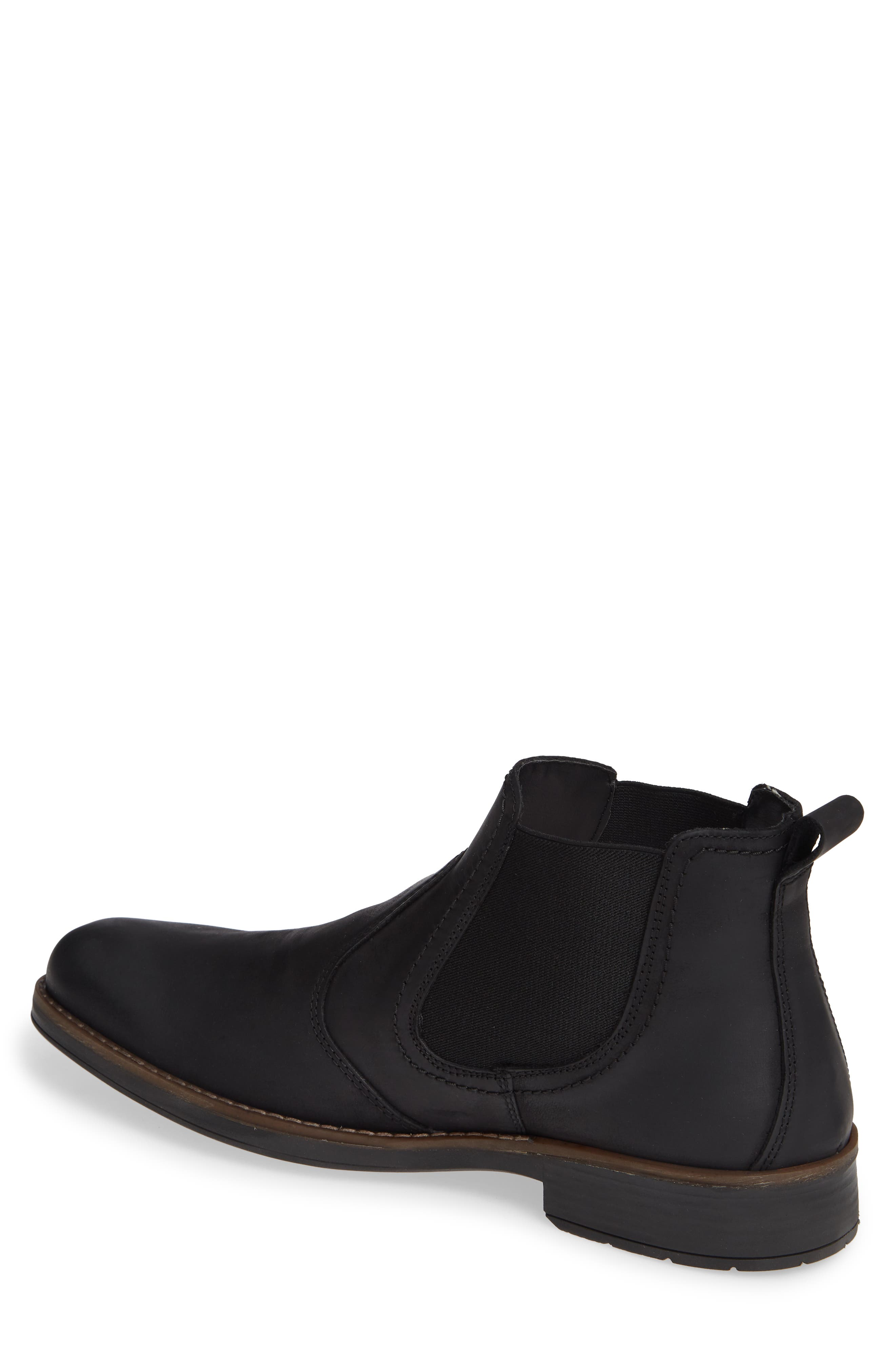 Maple Waterproof Chelsea Boot,                             Alternate thumbnail 2, color,                             BLACK LEATHER
