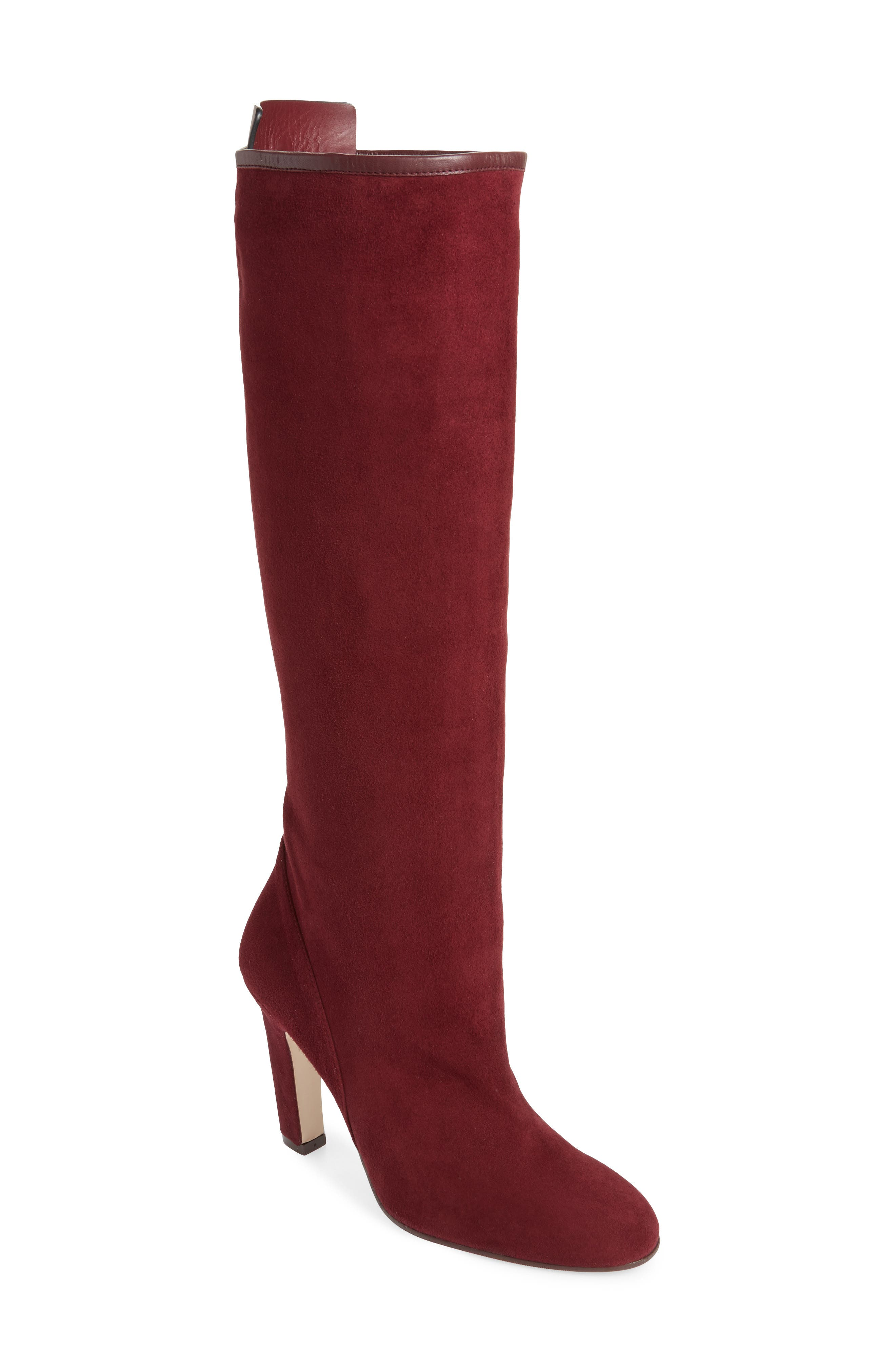 Stuart Weitzman Charlie Knee High Boot, Red