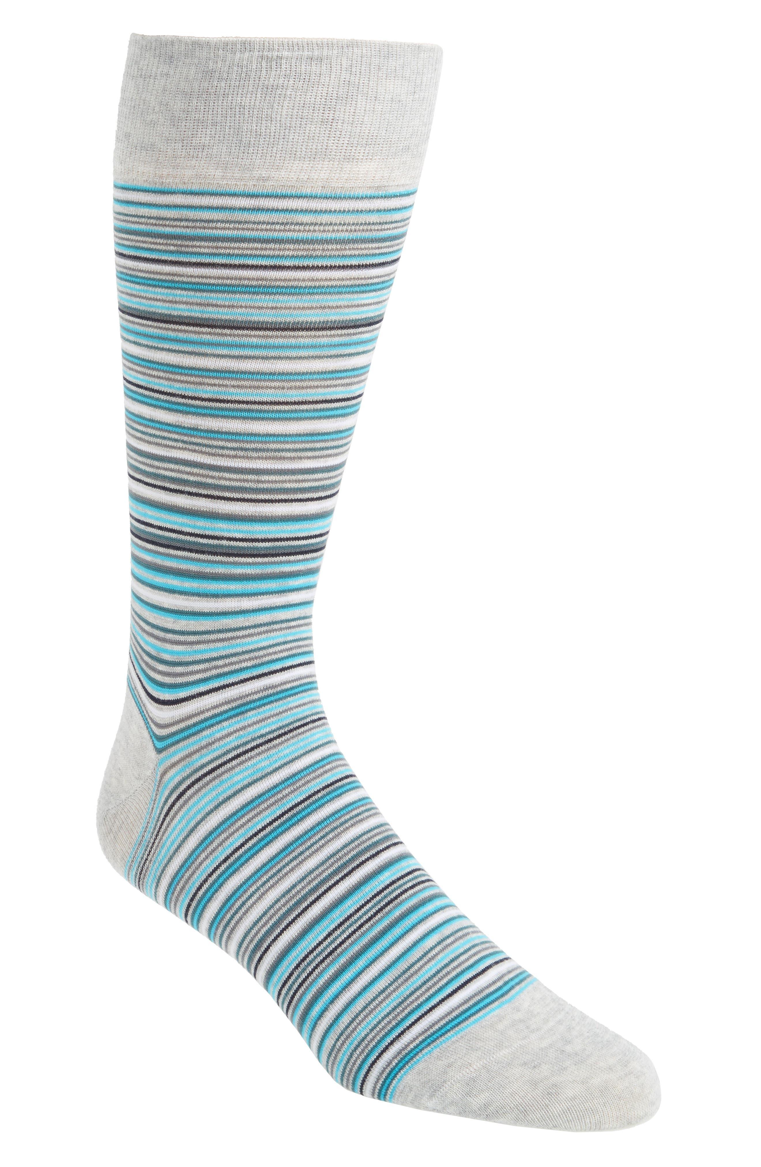 Multistripe Crew Socks,                             Main thumbnail 6, color,