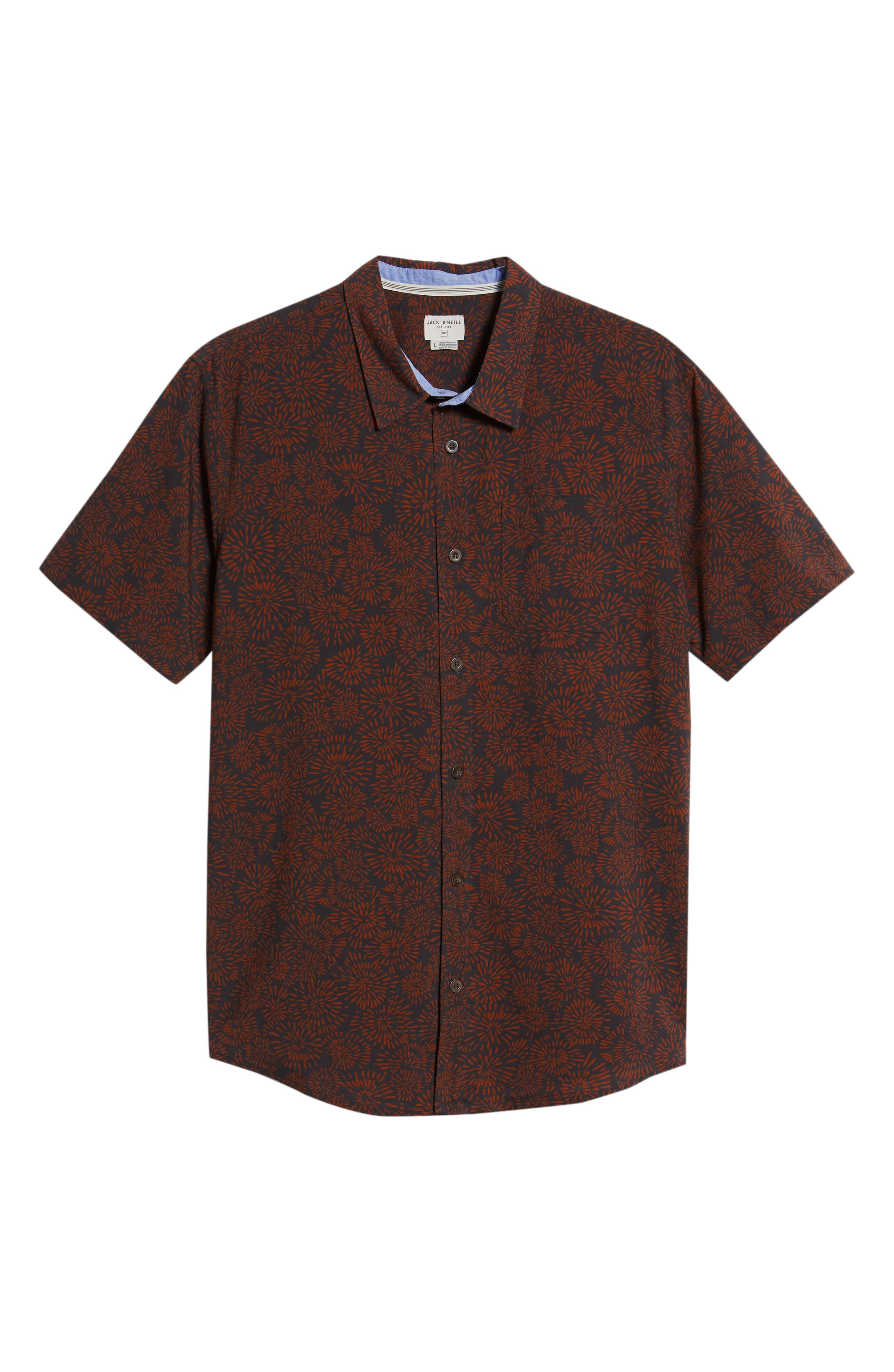 Upland Print Sport Shirt,                             Alternate thumbnail 6, color,                             020