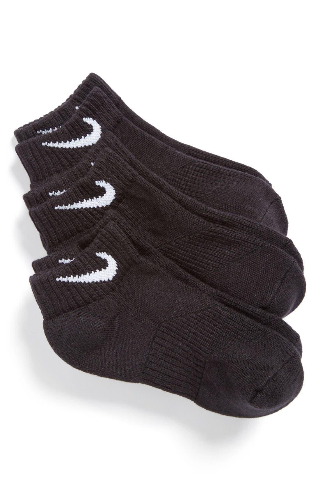 3-Pack Cushioned Low Cut Socks,                             Main thumbnail 3, color,