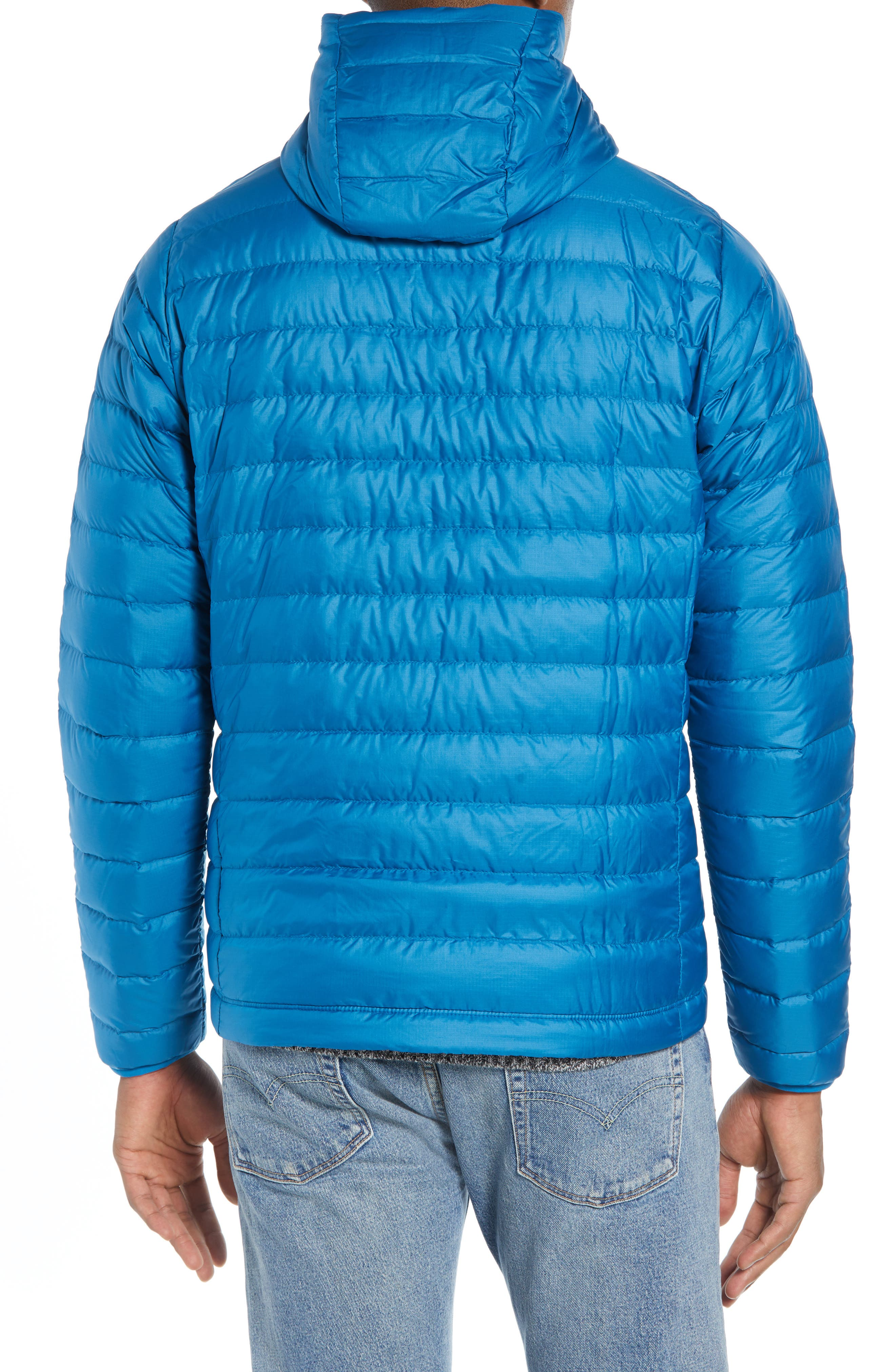 Packable Windproof & Water Resistant Goose Down Sweater Hooded Jacket,                             Alternate thumbnail 11, color,