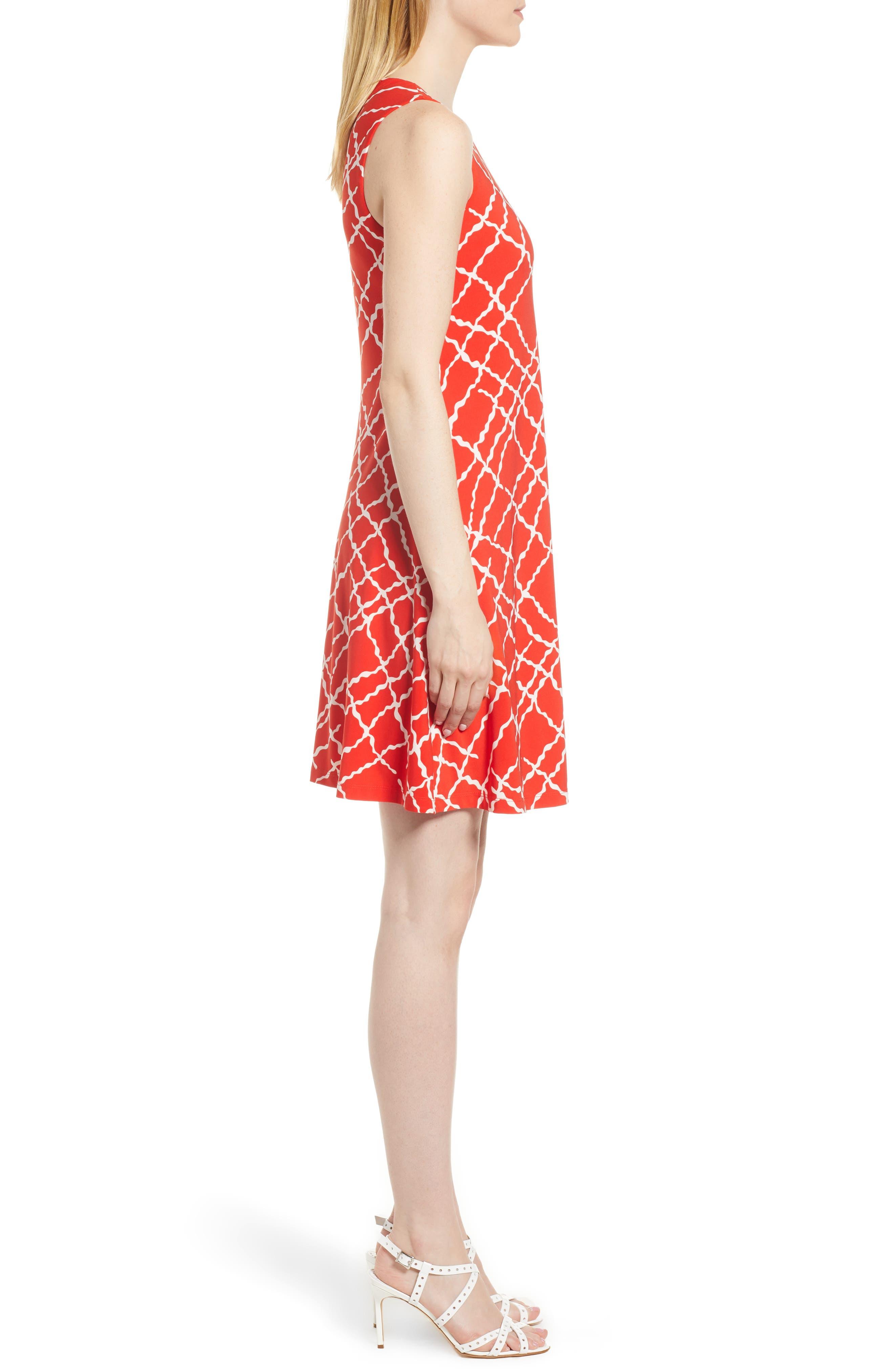 Print Swing Dress,                             Alternate thumbnail 7, color,