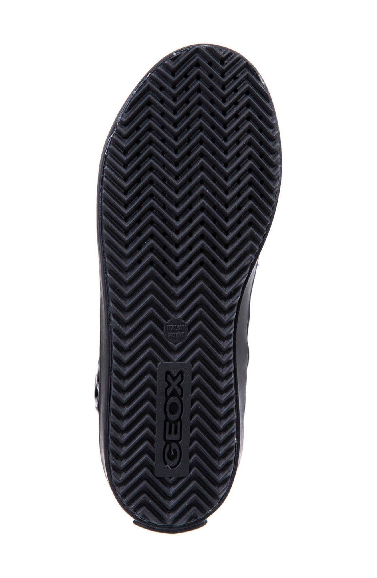 Kalispera Girl Quilted High-Top Sneaker,                             Alternate thumbnail 6, color,                             BLACK