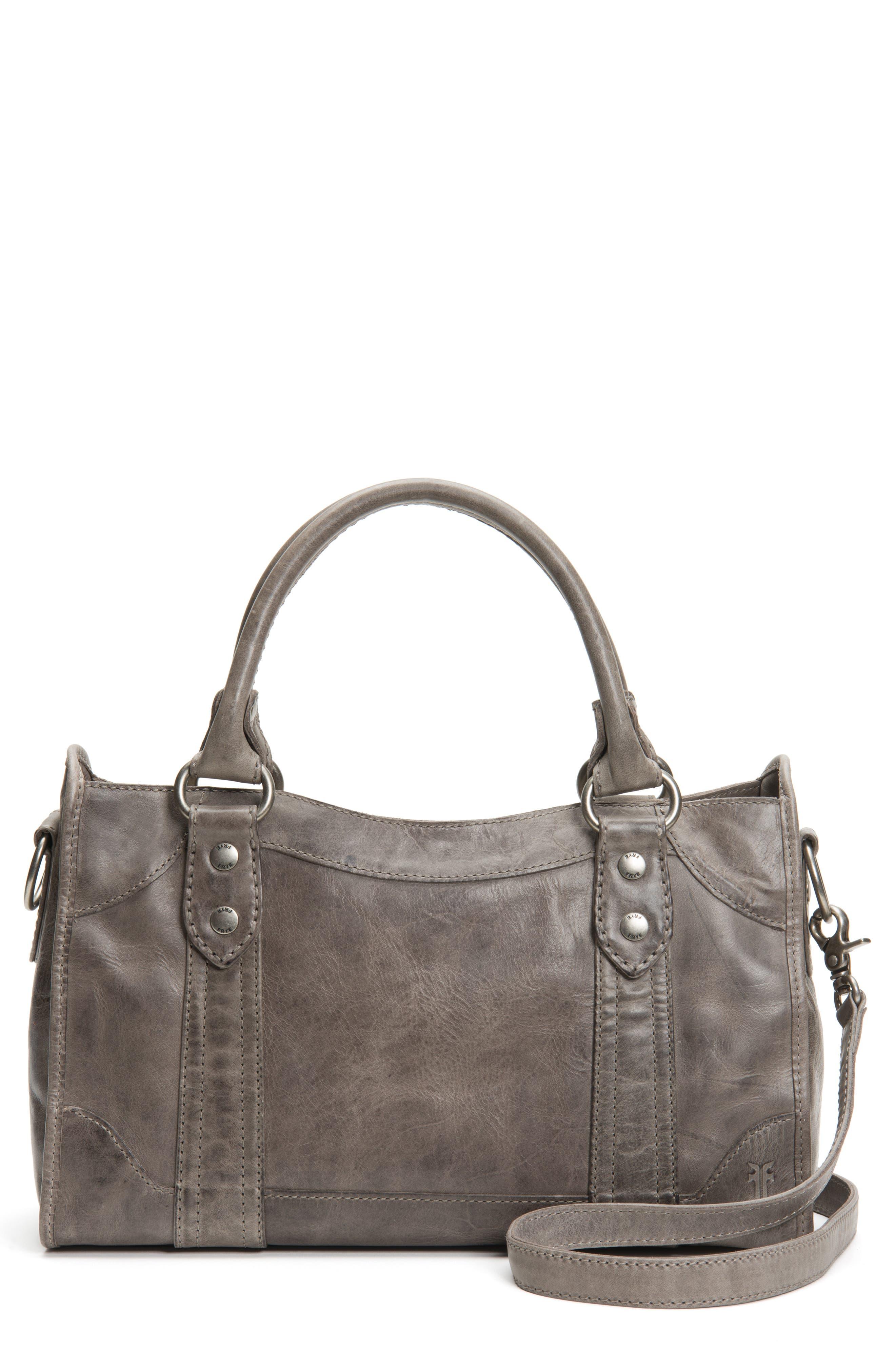 FRYE,                             'Melissa' Washed Leather Satchel,                             Alternate thumbnail 2, color,                             ICE