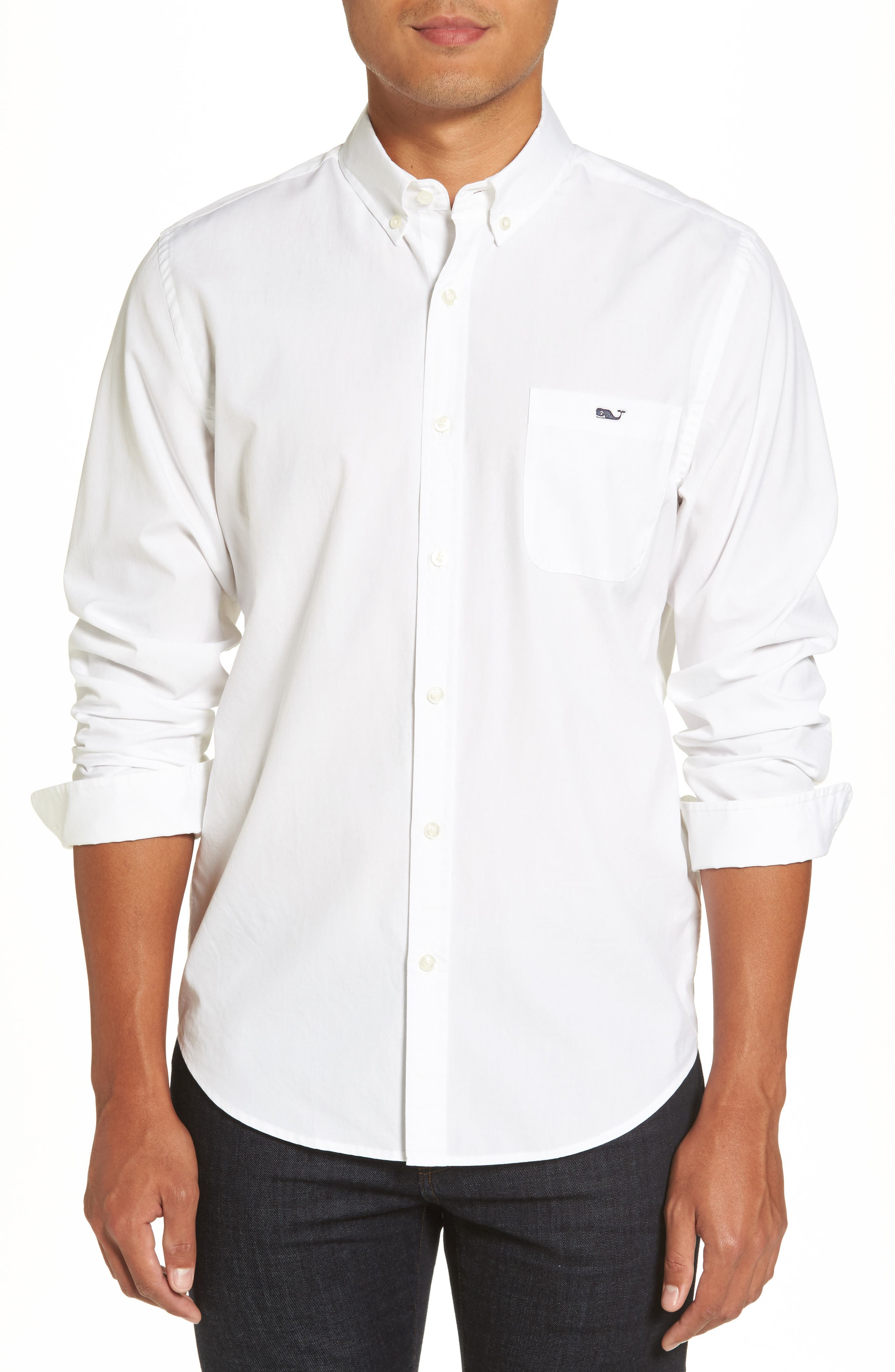 End on End Slim Tucker Sport Shirt,                             Main thumbnail 1, color,                             100