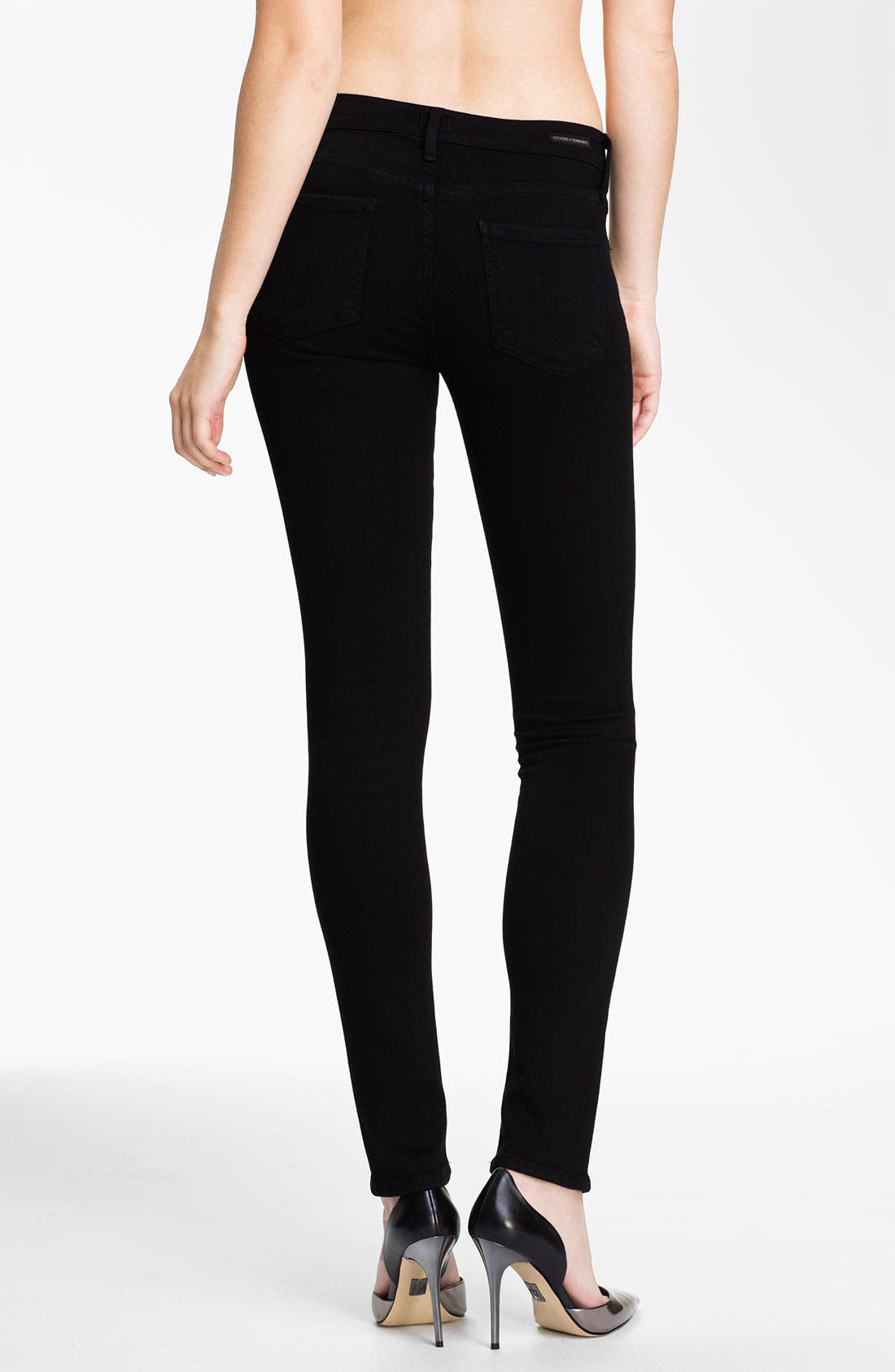 Skinny Stretch Leggings,                             Alternate thumbnail 2, color,                             010