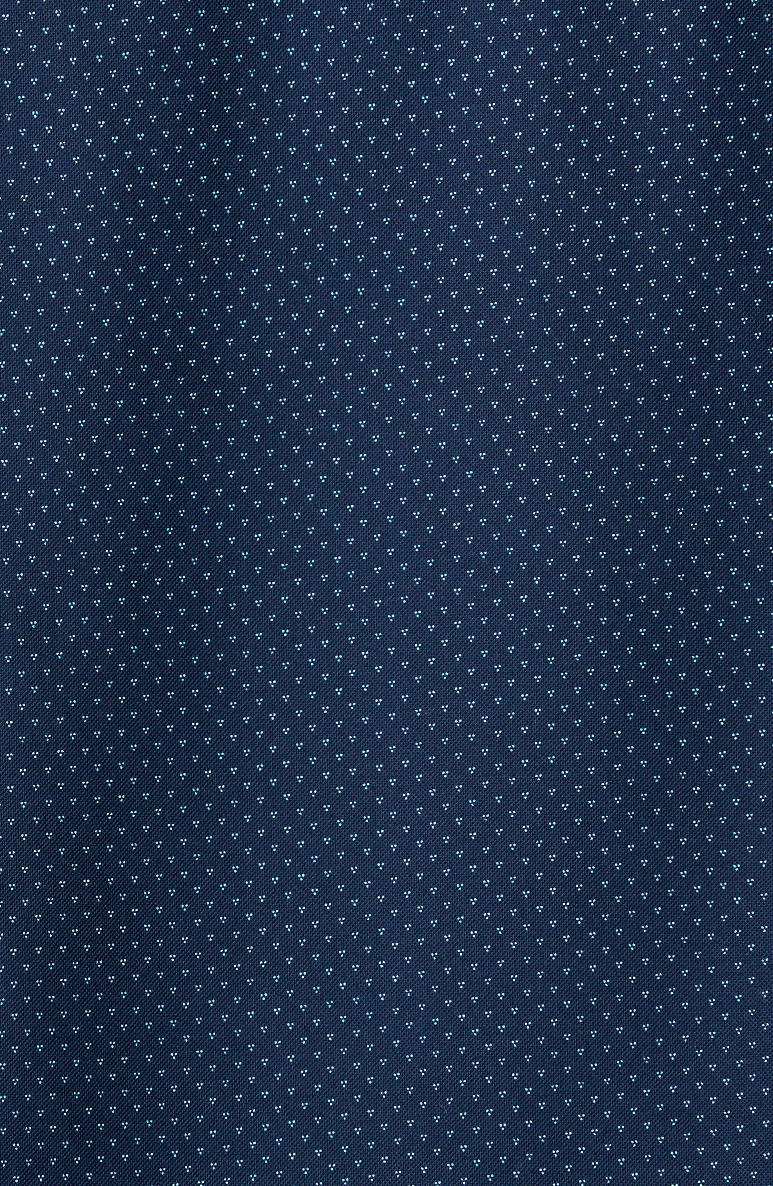 Trim Fit Print Washed Oxford Sport Shirt,                             Alternate thumbnail 5, color,                             410