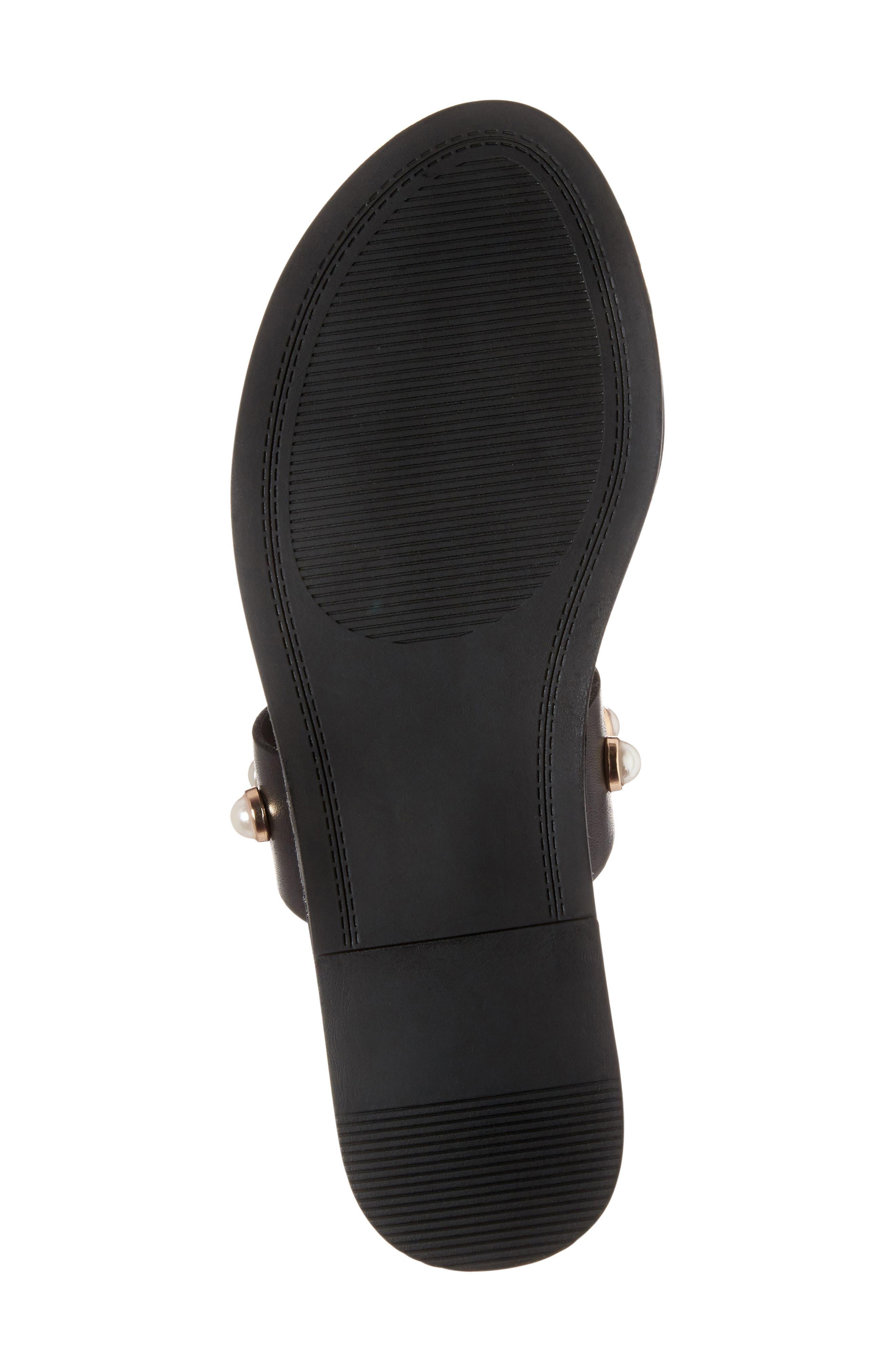 Jole Embellished Slide Sandal,                             Alternate thumbnail 6, color,                             001