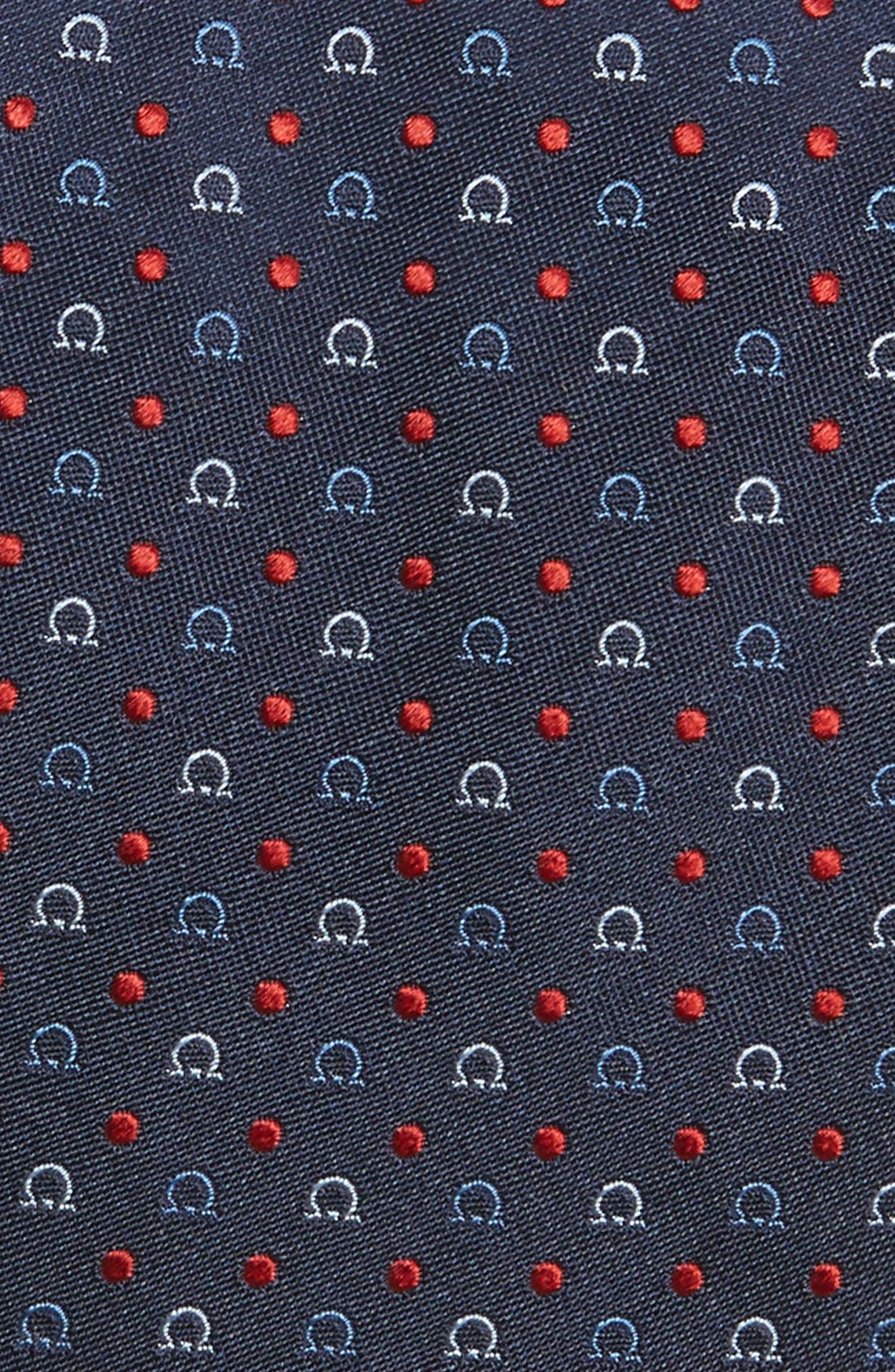Gancini Silk Tie,                             Alternate thumbnail 2, color,                             491