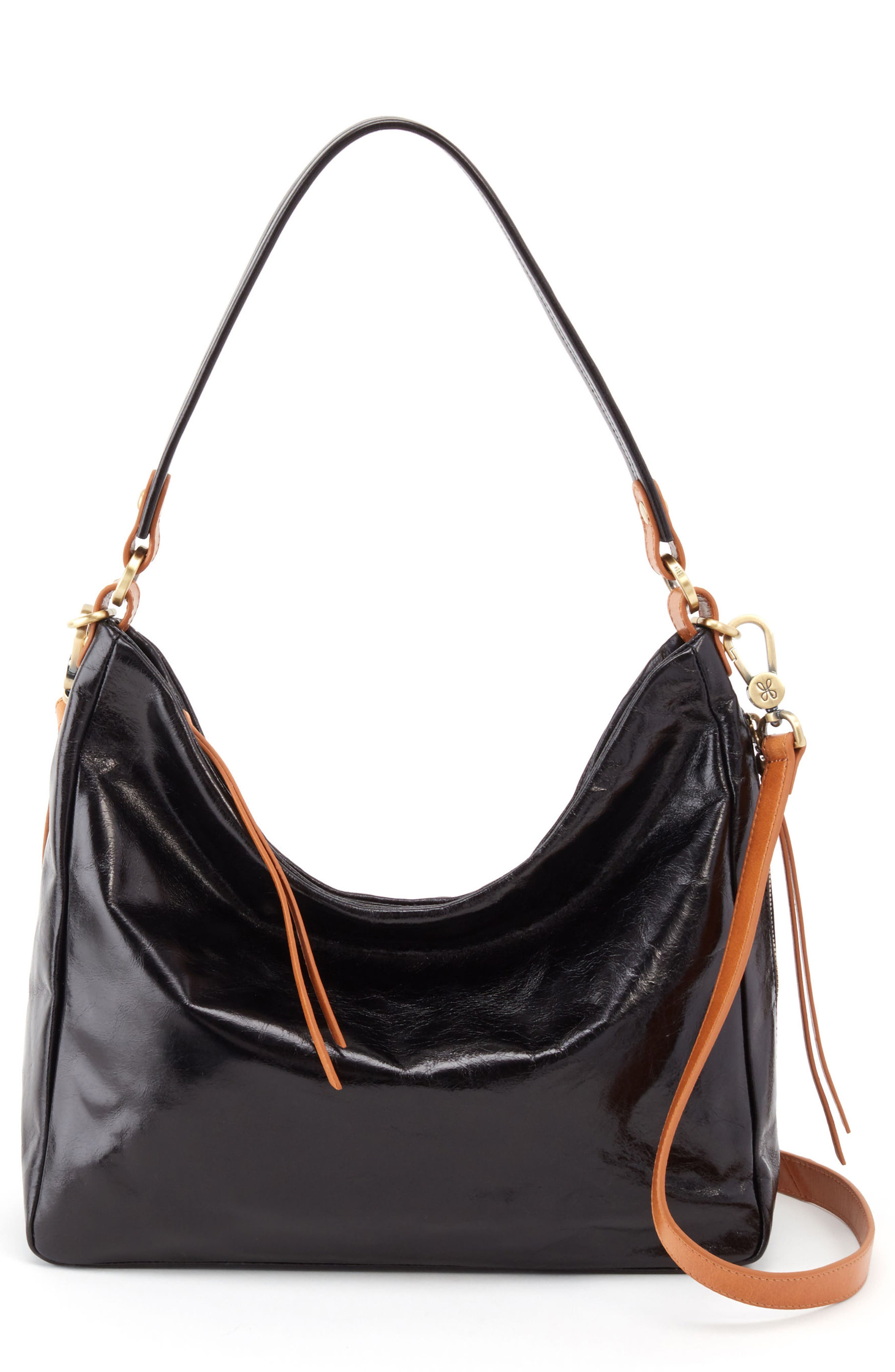 Delilah Convertible Hobo Bag,                             Main thumbnail 1, color,                             BLACK