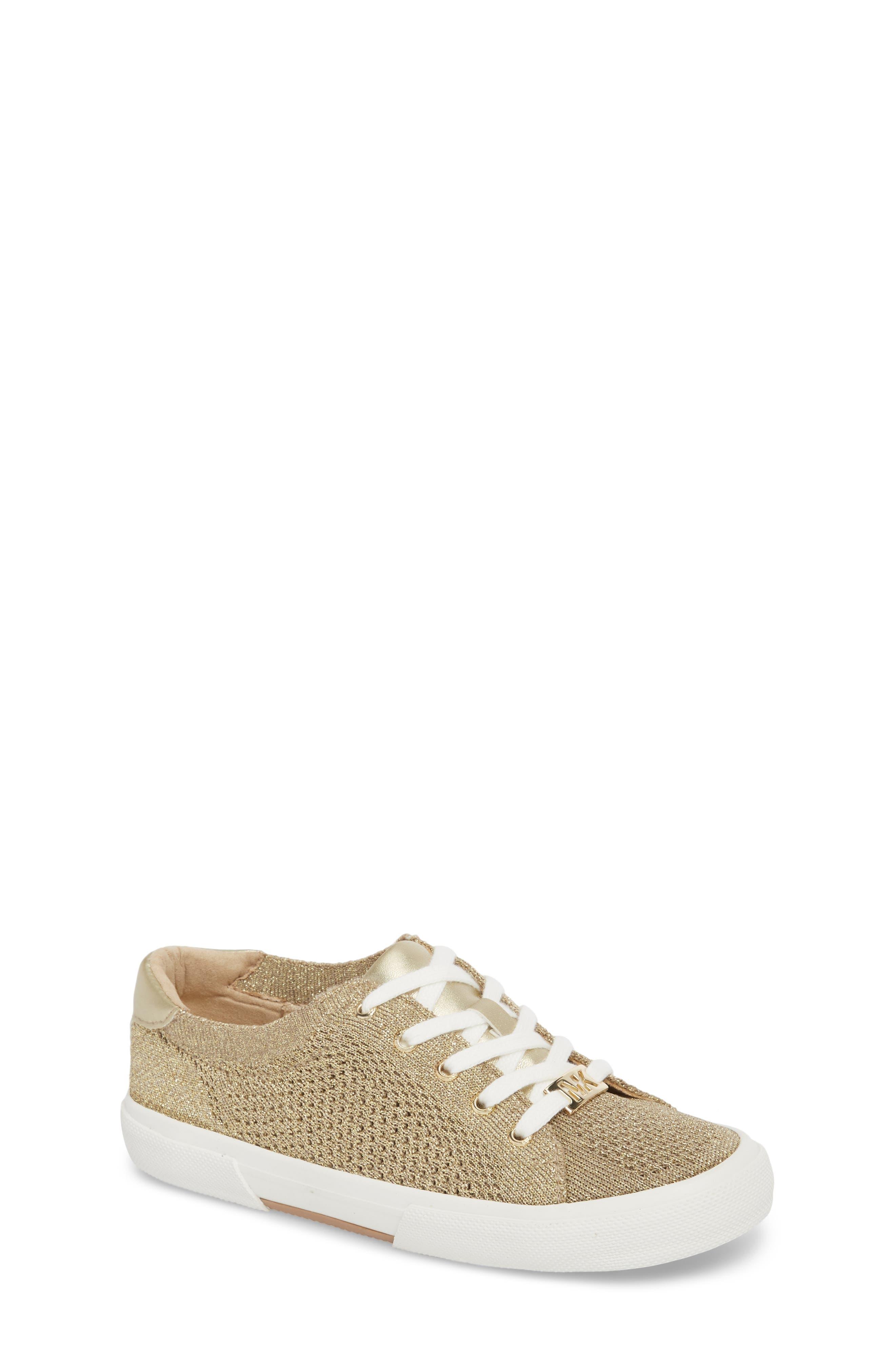 Ima Metallic Knit Sneaker,                         Main,                         color, GOLD