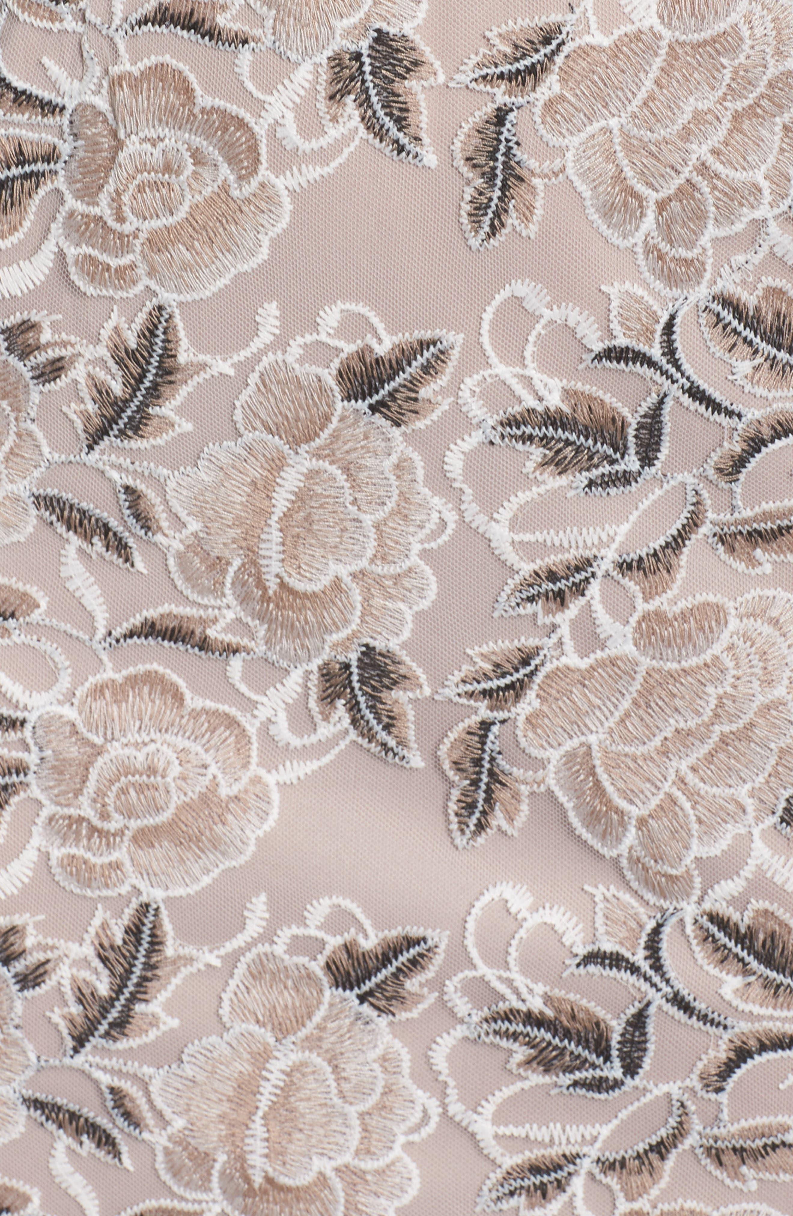 Suzette Embroidered Sheath Dress,                             Alternate thumbnail 5, color,